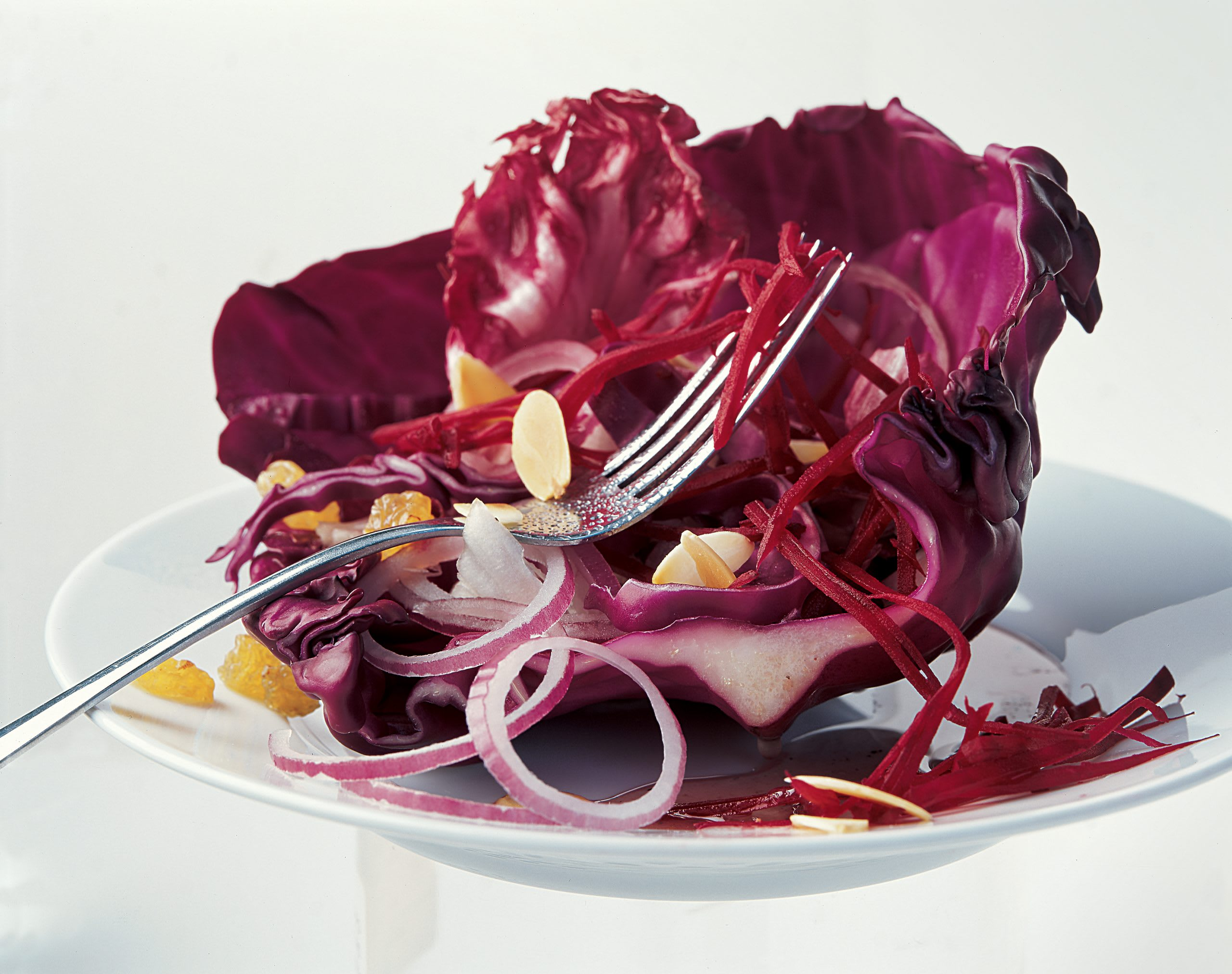 Roter Herbstsalat
