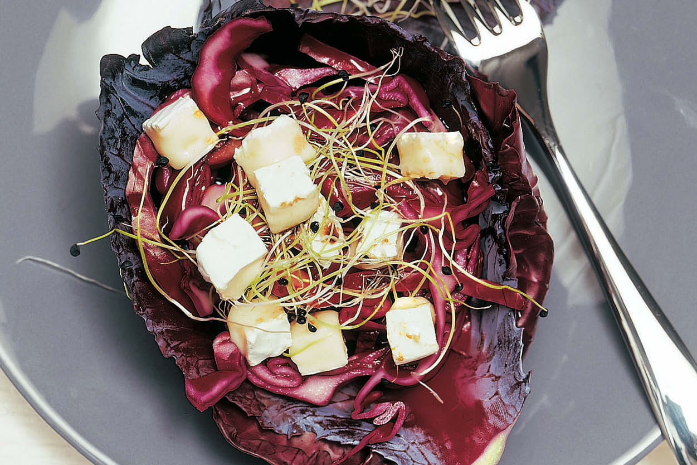 Salade de chou rouge au fromage