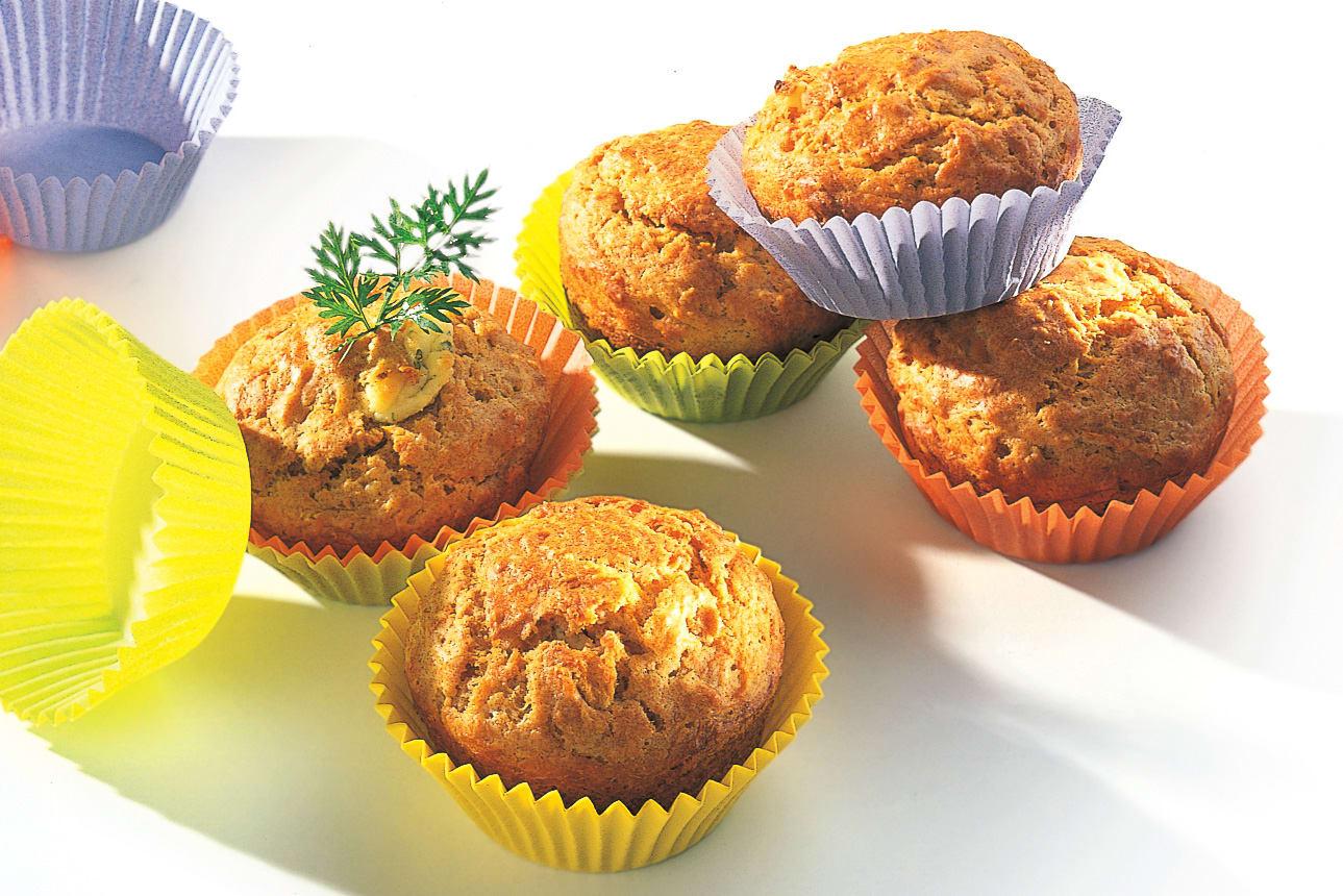 Rüebli-Frischkäse-Muffins