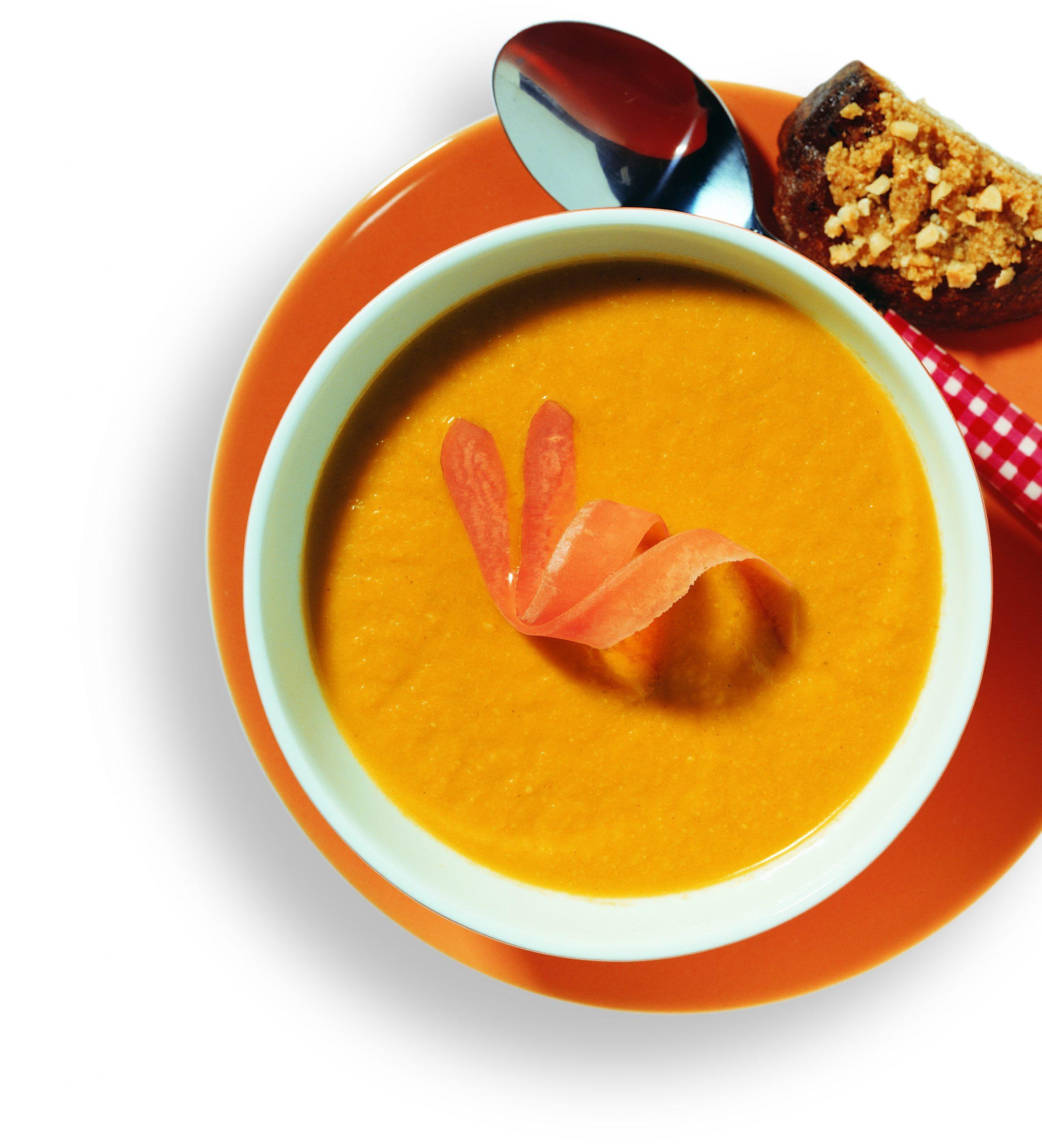 Rüebli-Haselnuss-Suppe