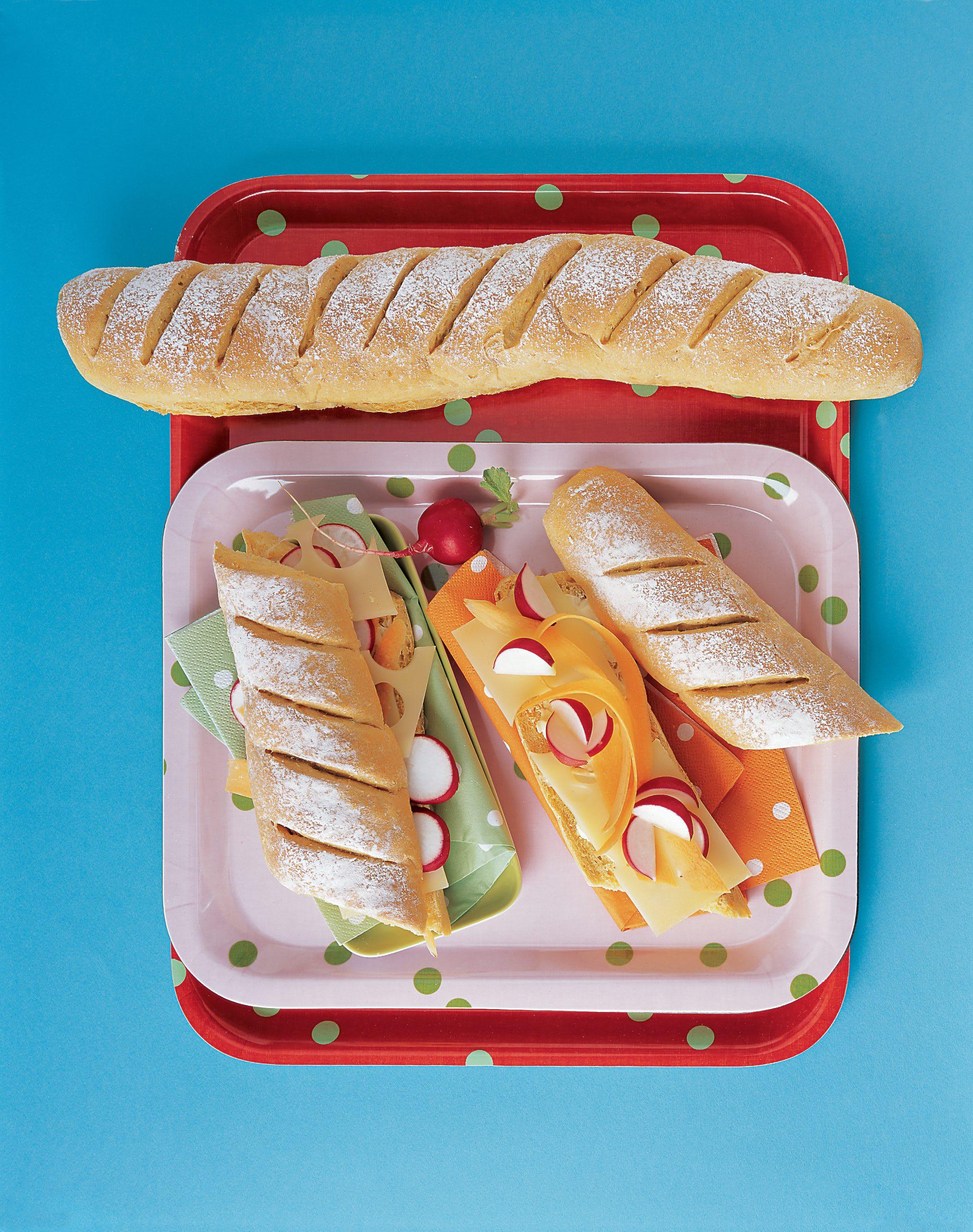 Baguettes au fromage et aux carottes