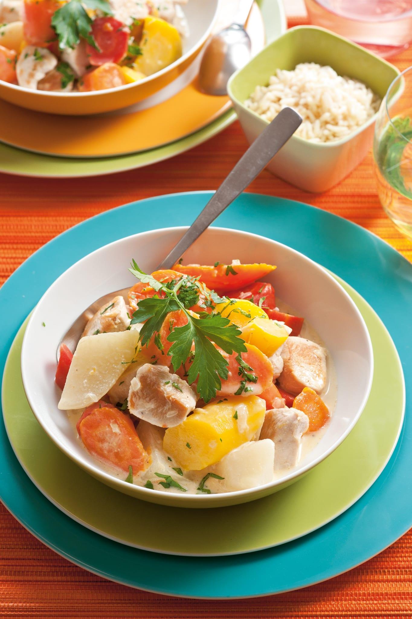 Ragoût de poulet aux carottes