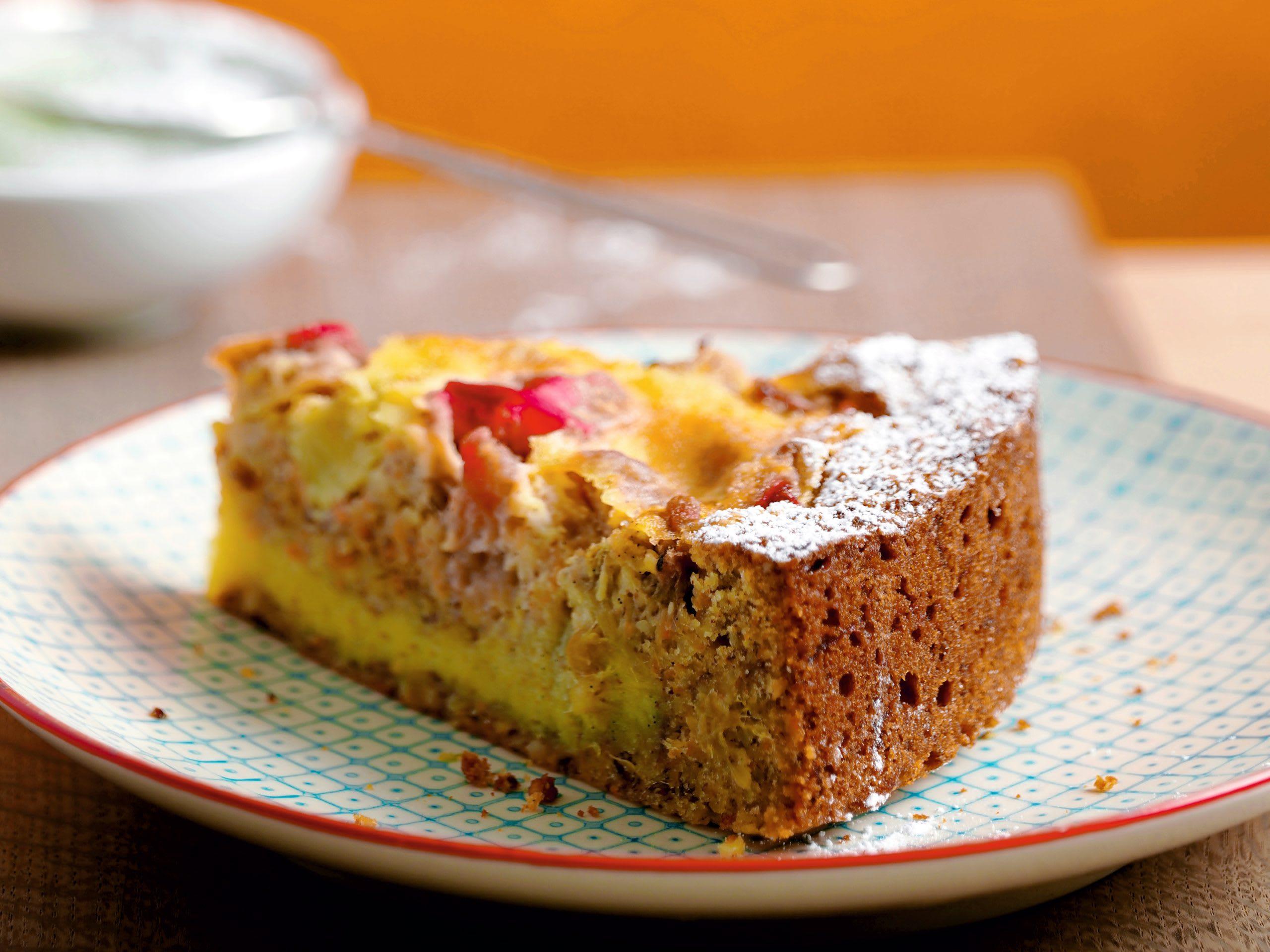 Rüebli-Rhabarber-Kuchen