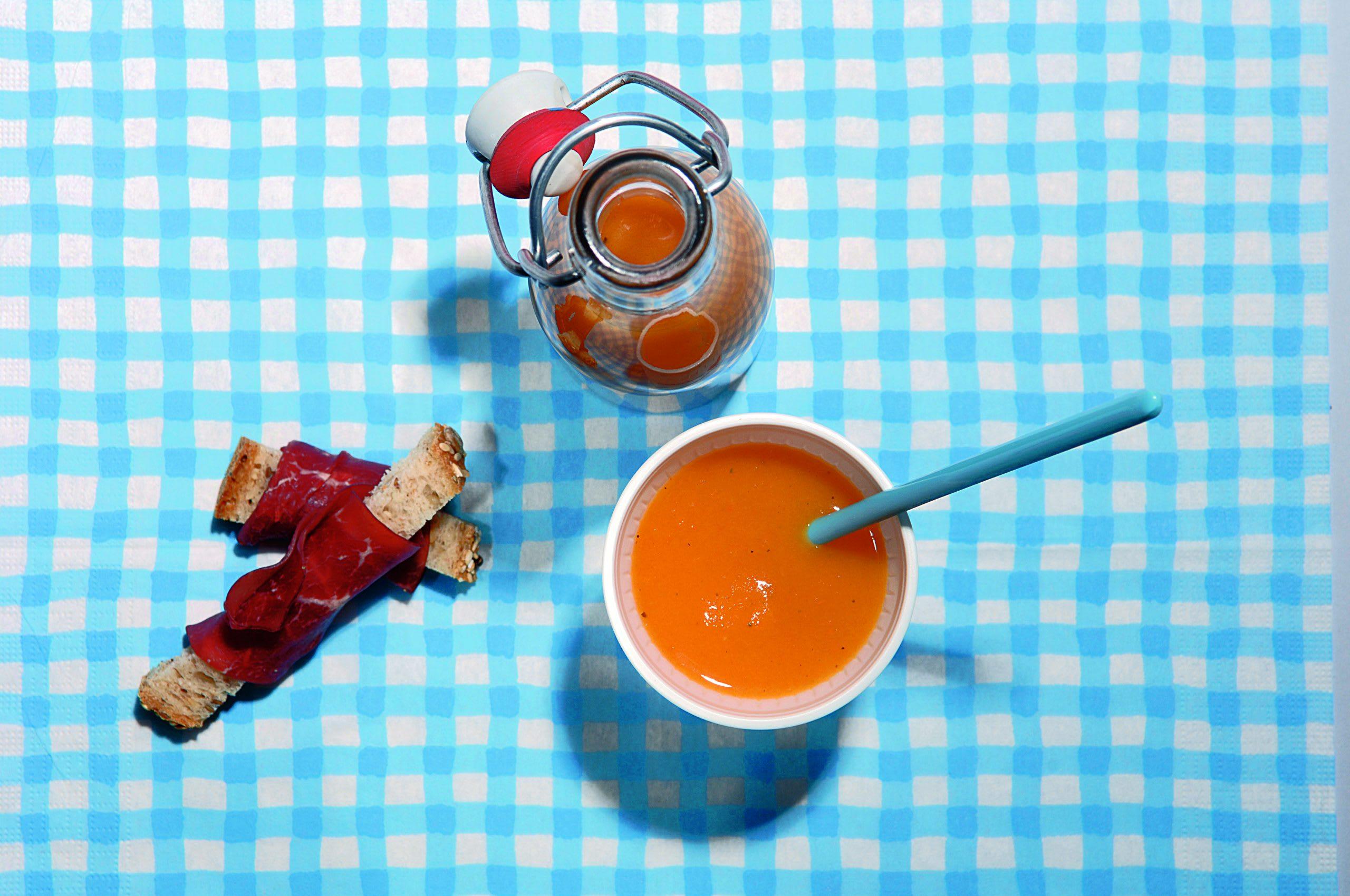 Velouté de carottes aux croûtons