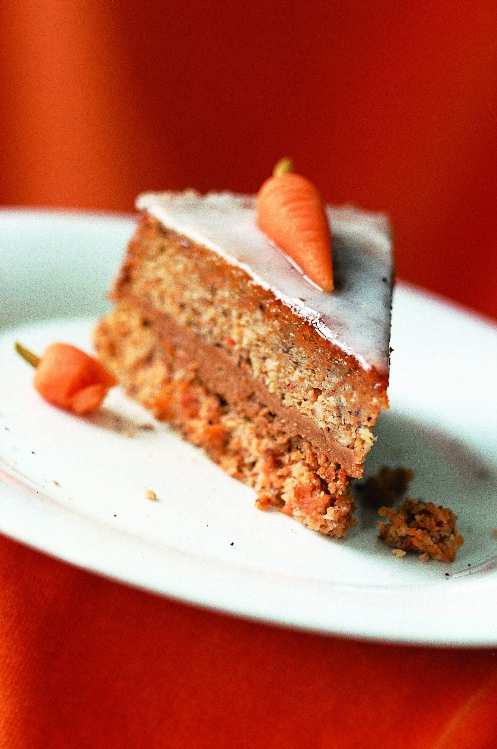 Biscuit aux carottes fourré de crème au beurre au moka
