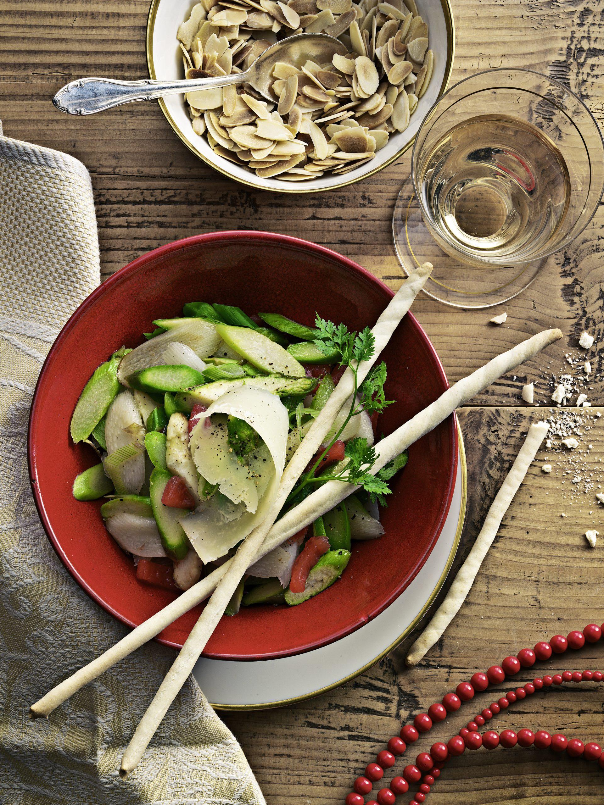 Salade aux deux asperges