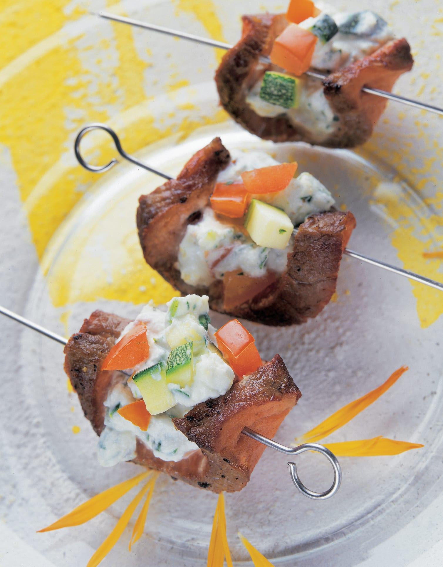 Steaks au tartare de légumes