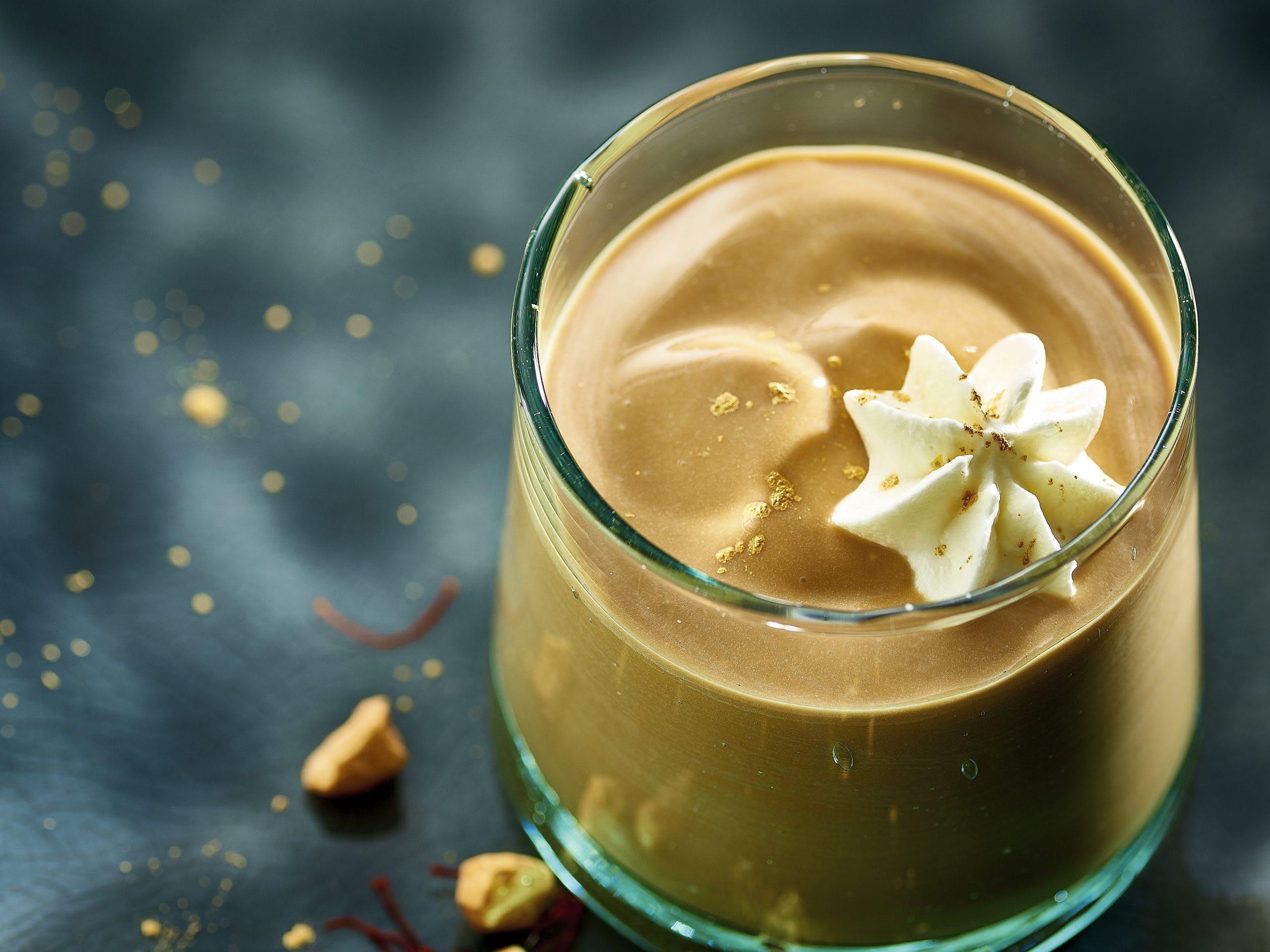 Crème safran-caramel