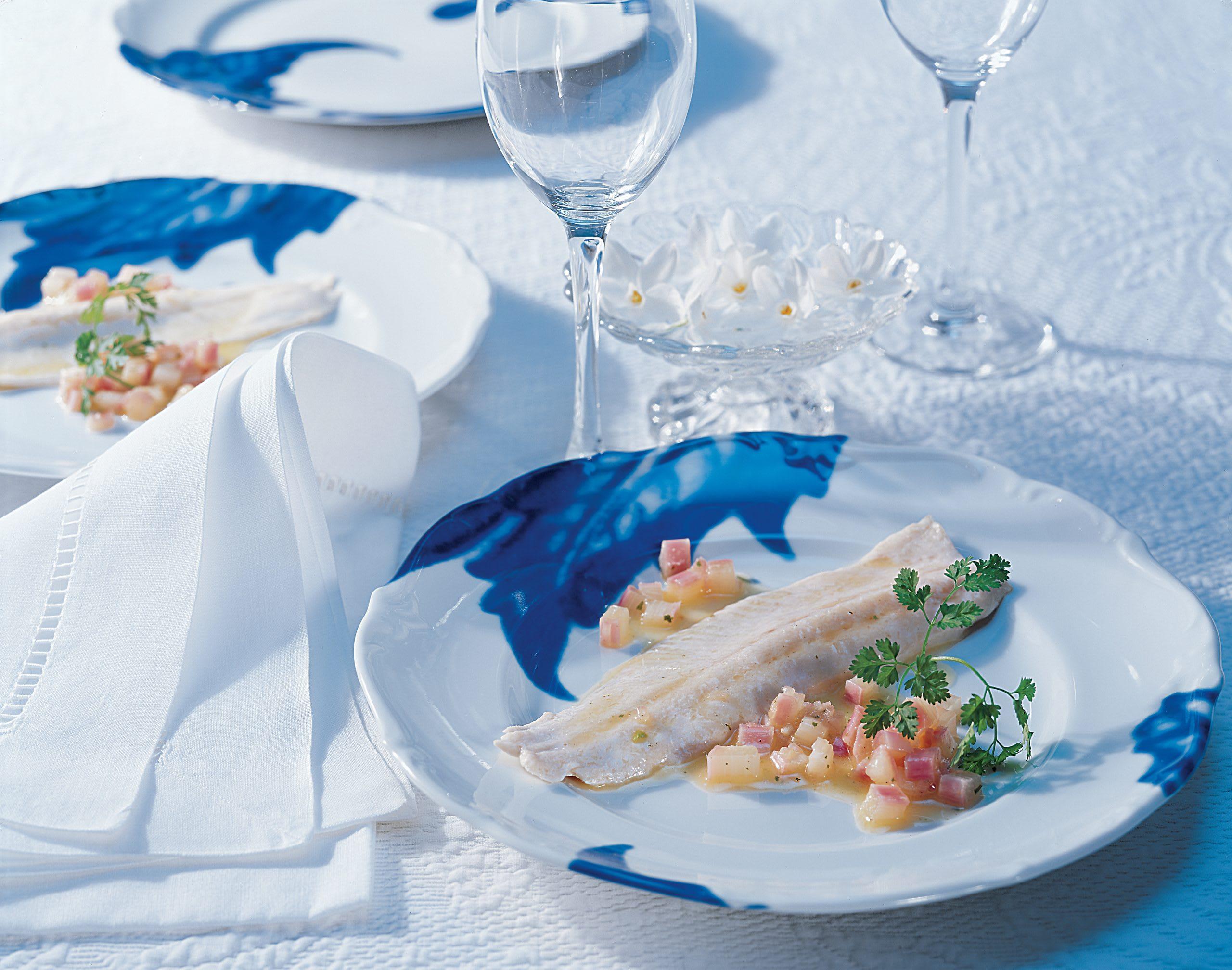 Filet de saumon et son beurre à la rhubarbe