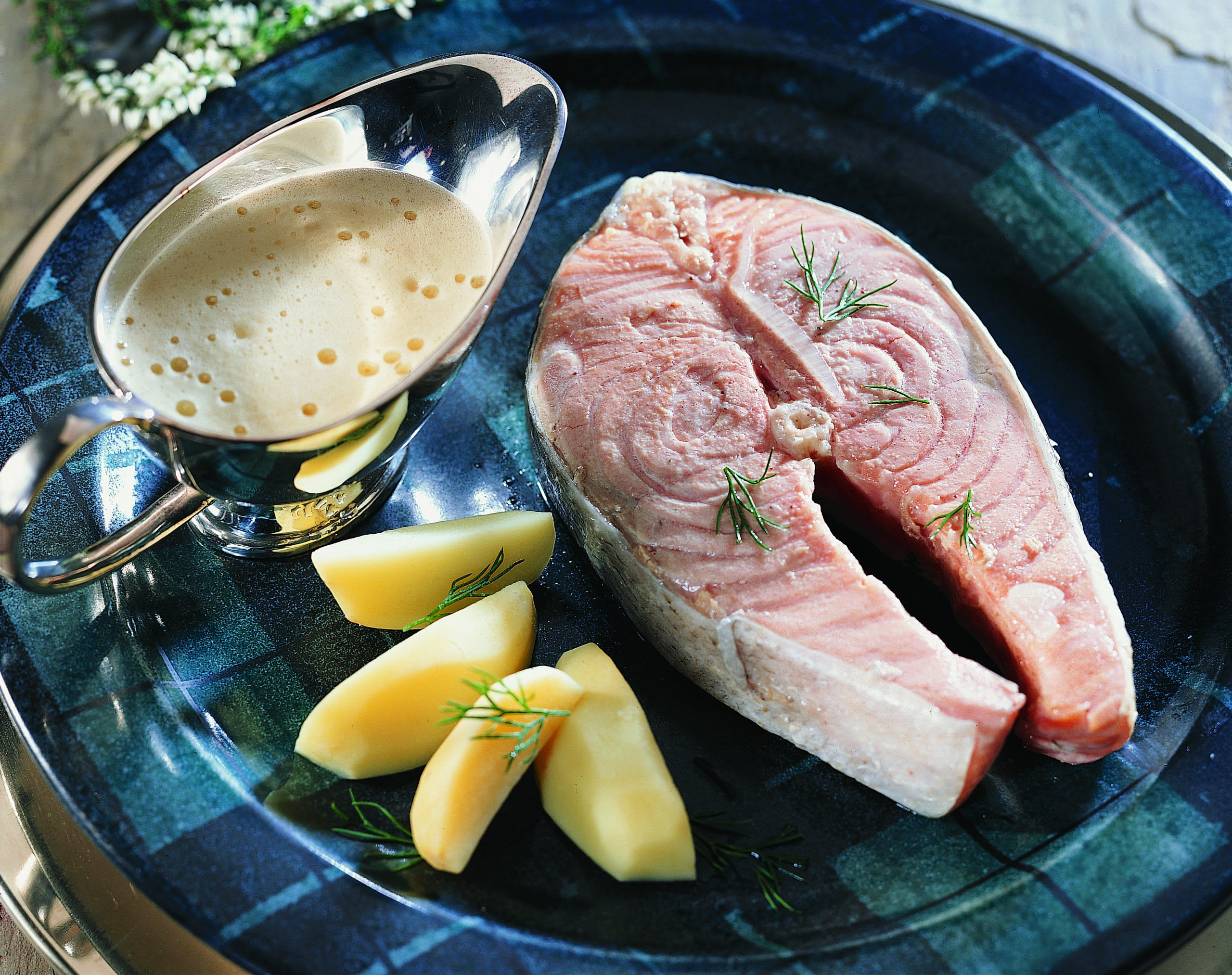 Salmon with Whisky Sauce (Lachs an Whisky-Sauce)