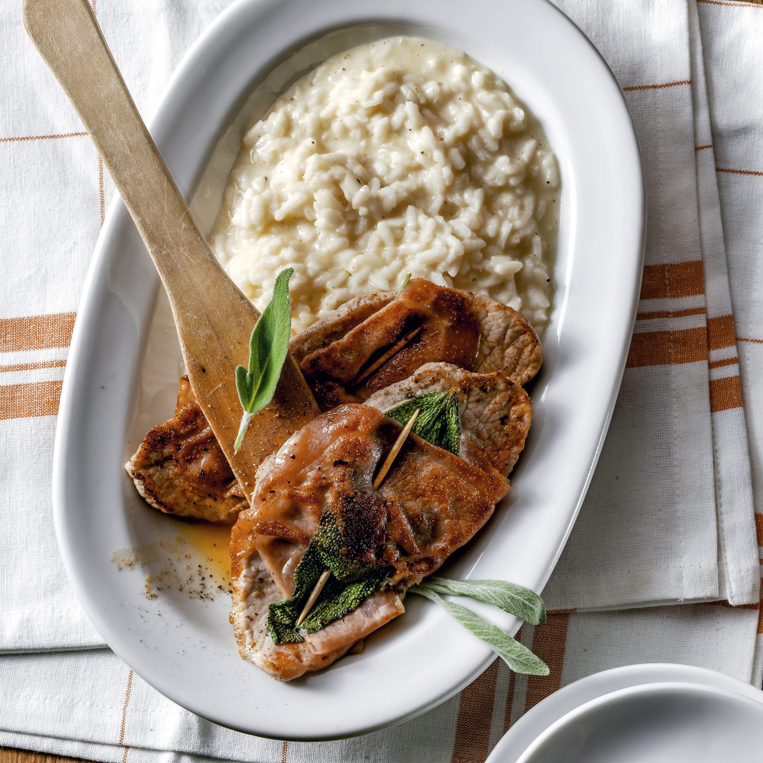 Saltimbocca et risotto