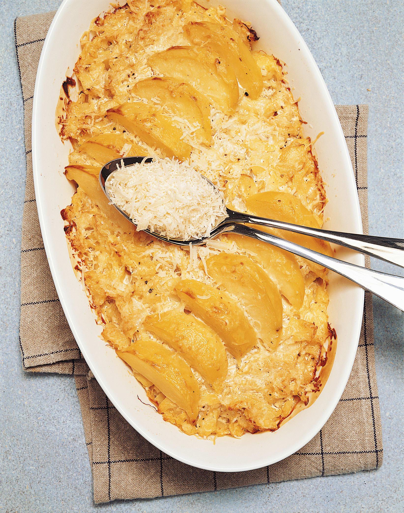 Gratin de choucroute et de pommes de terre