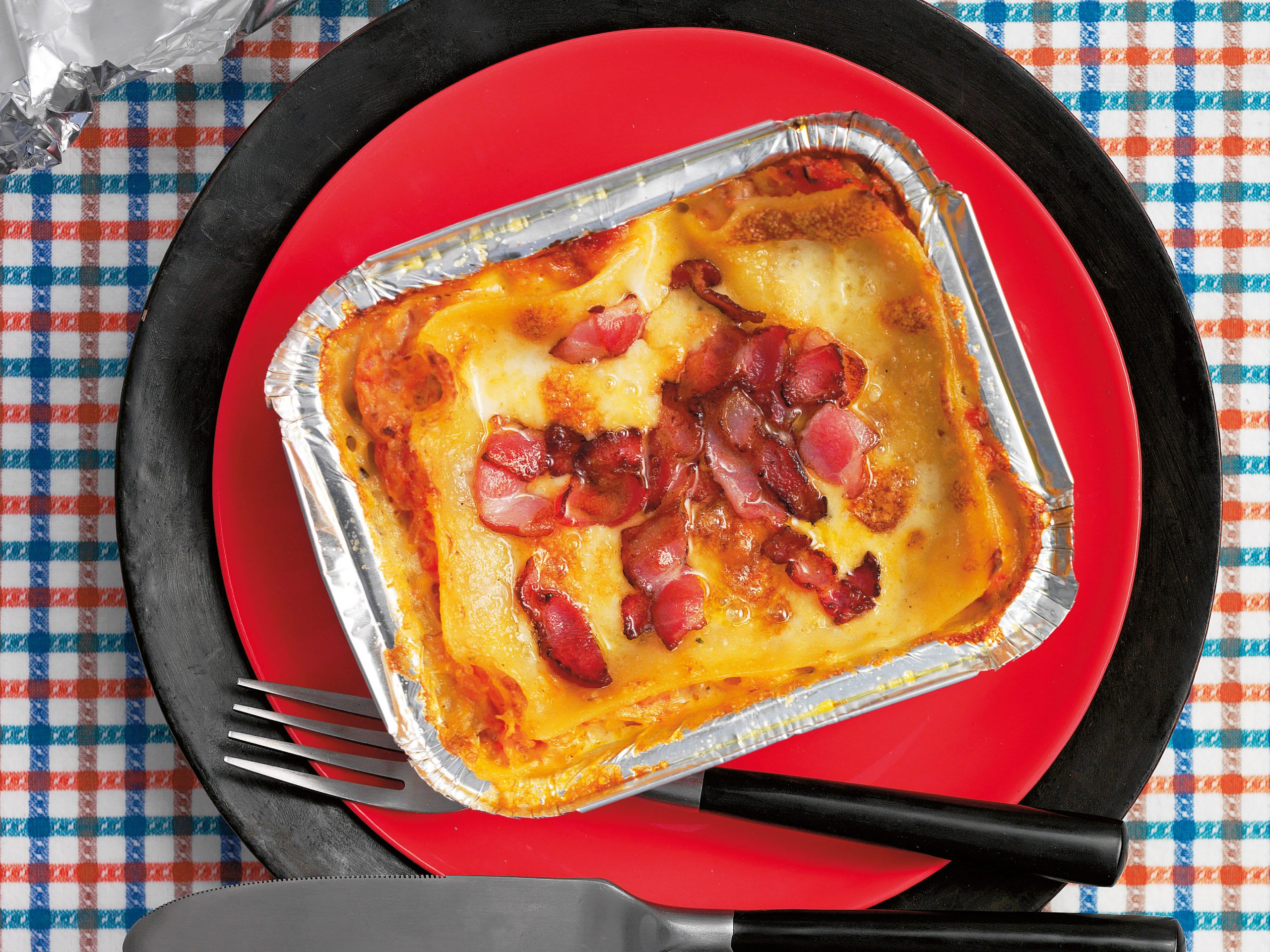 Lasagnes à la choucroute et au lard