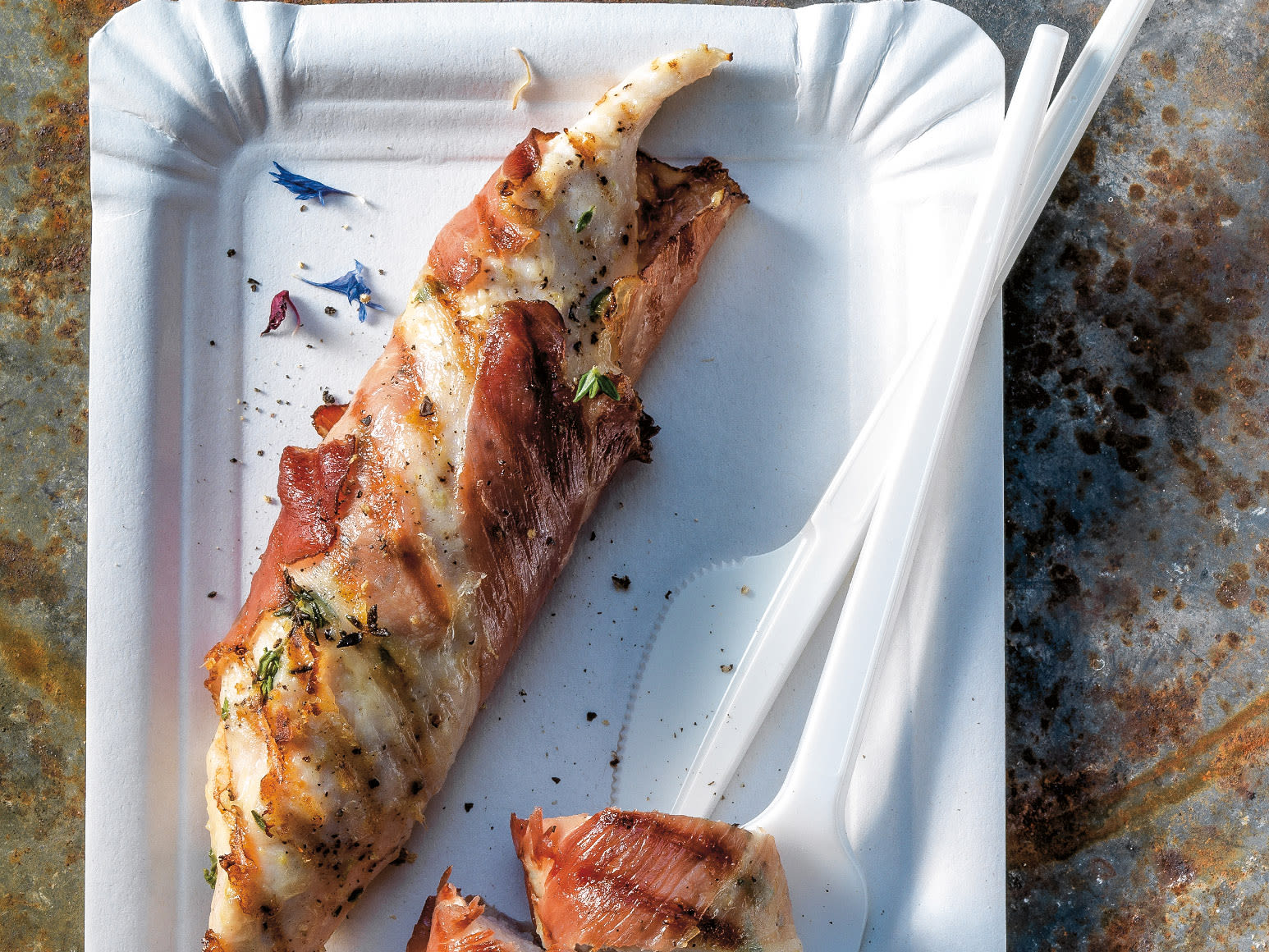 Sbrinz-Kräuter-Poulet vom Grill