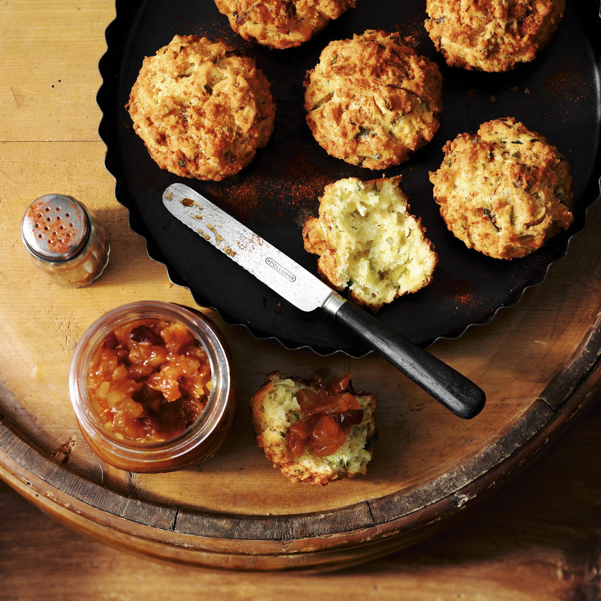 Muffins au Sbrinz et chutney d'abricots