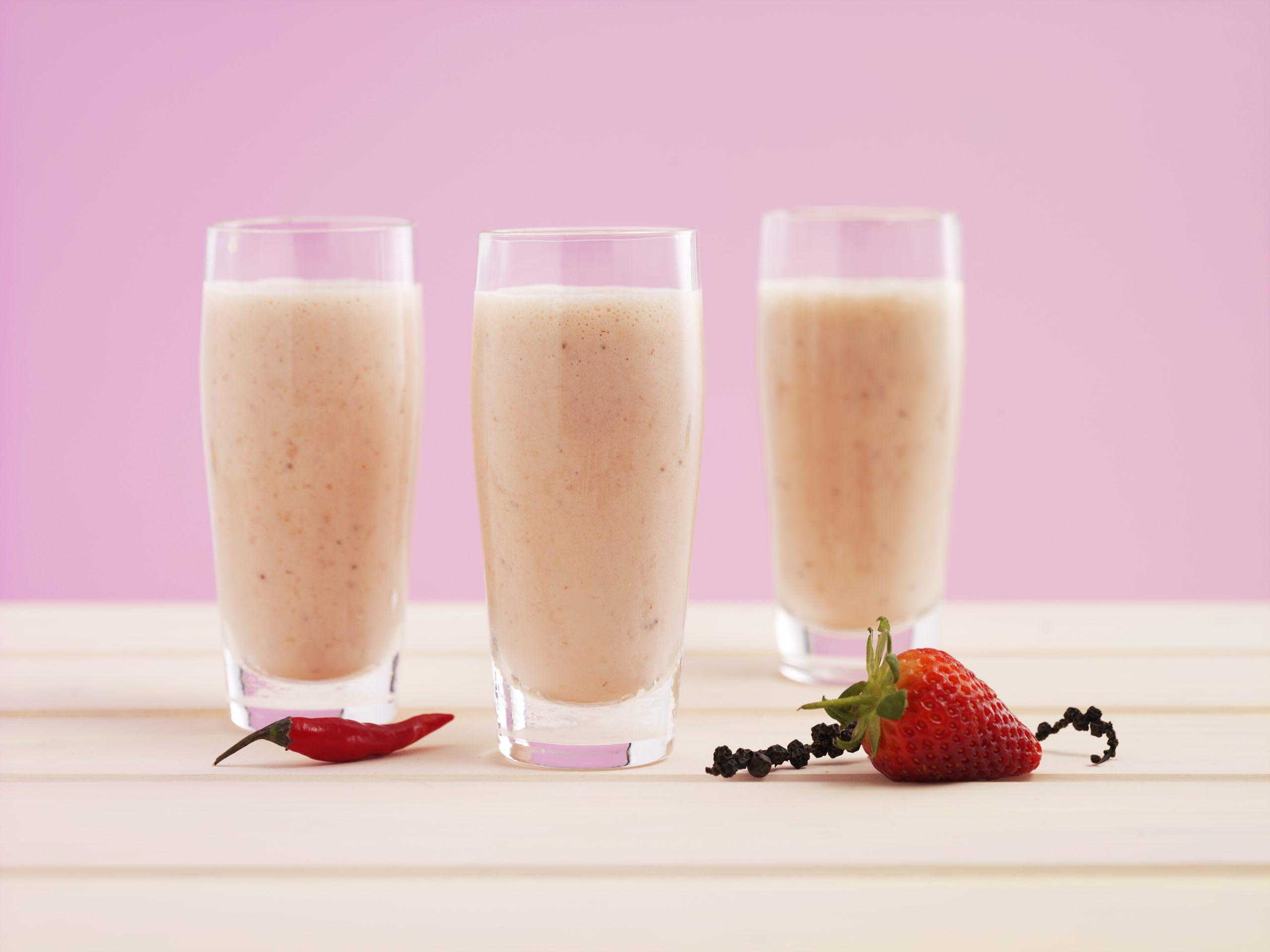 Milkshake épicé à la fraise