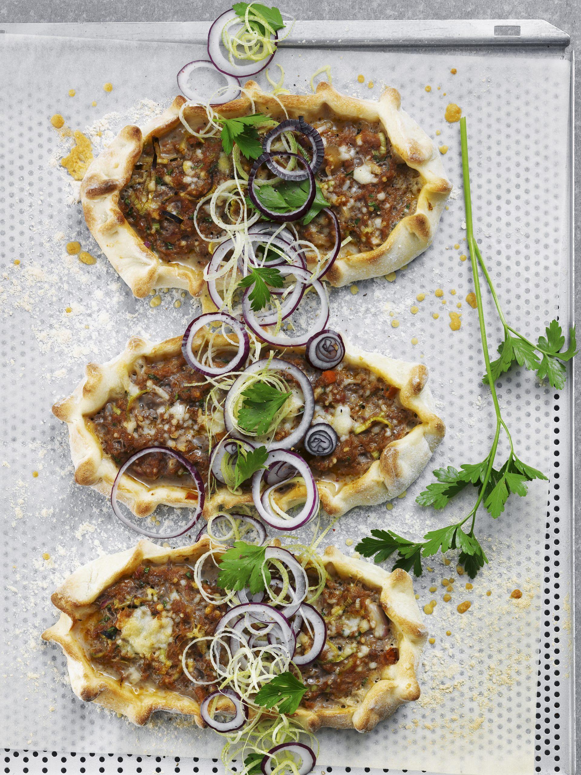 Schnelle Hackfleisch-Pizza
