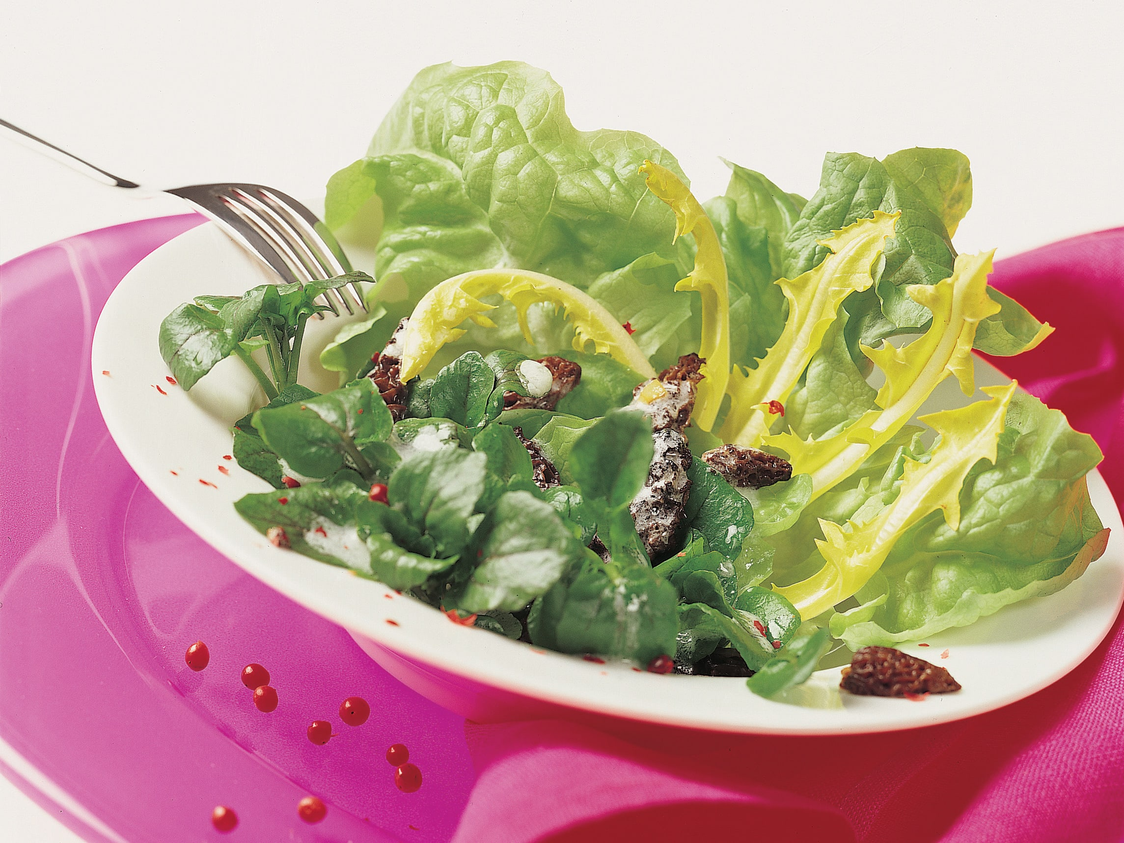 Schnittsalat mit Morcheln