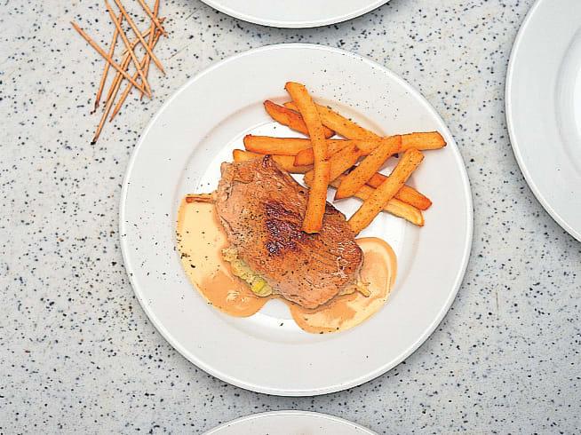 Schnitzel mit Vacherin-Lauch-Füllung