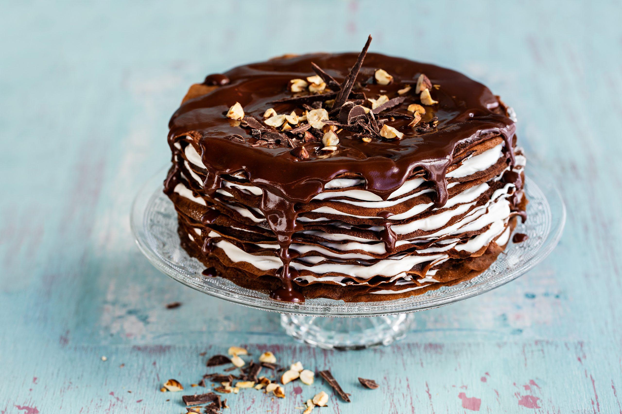 Schokoladen-Crêpes-Torte