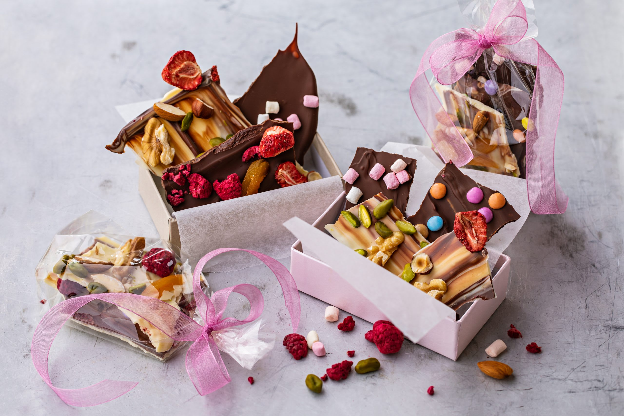 Schokoladen-Geschenk (Bruchschokolade)