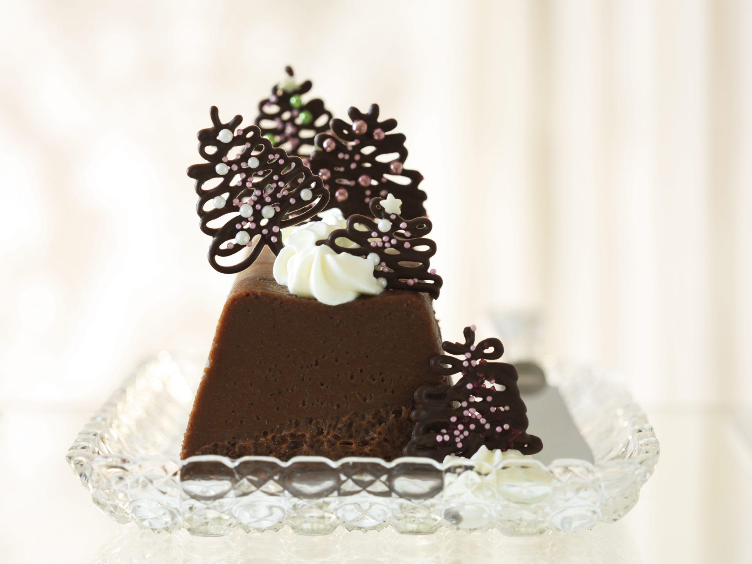 Cake fondant chocolat-marron