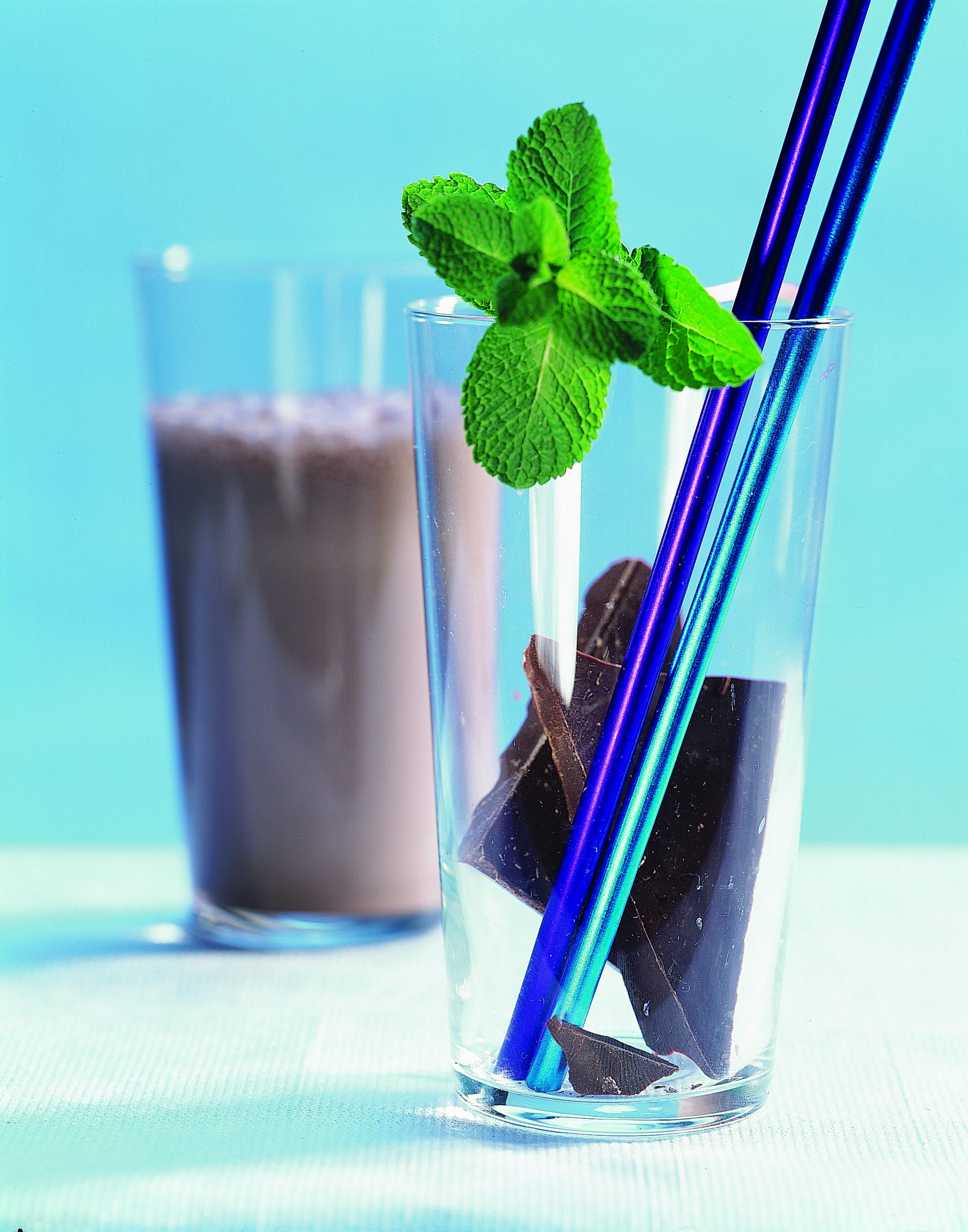 Schokoladen-Pfefferminz-Shake