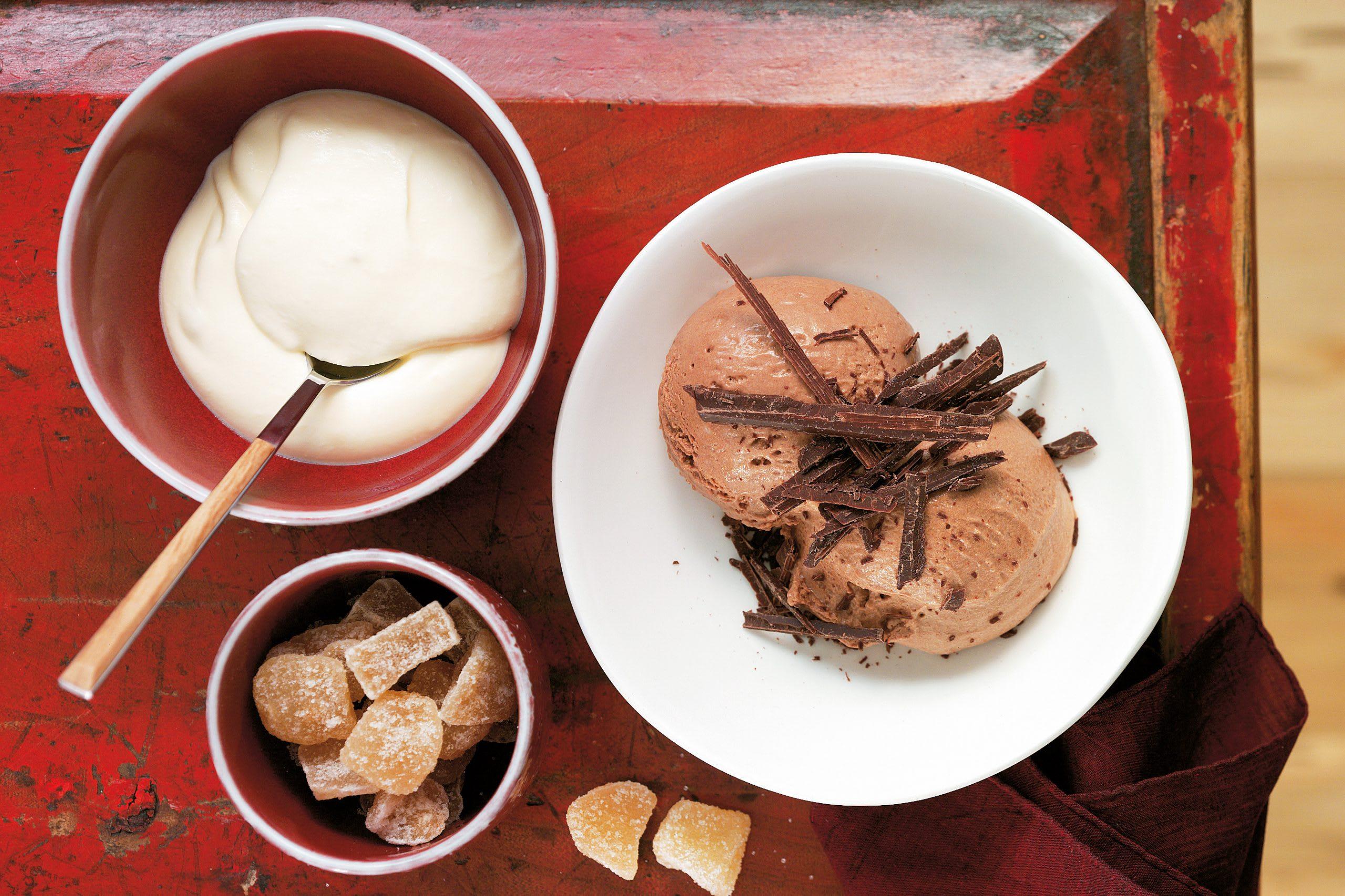 Schokoladenmousse mit Ingwerschaum