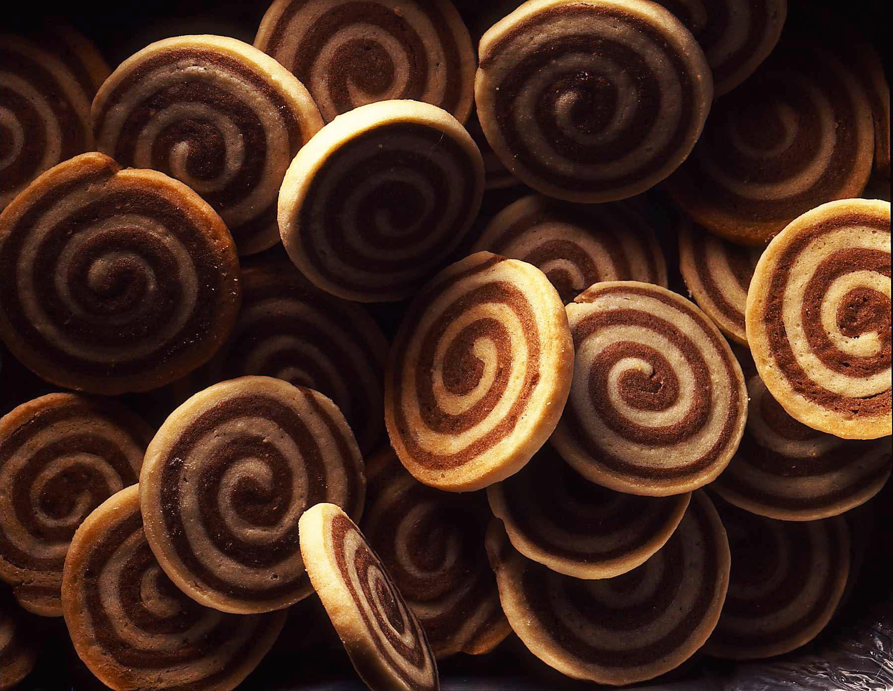 Biscuits spirales bicolores