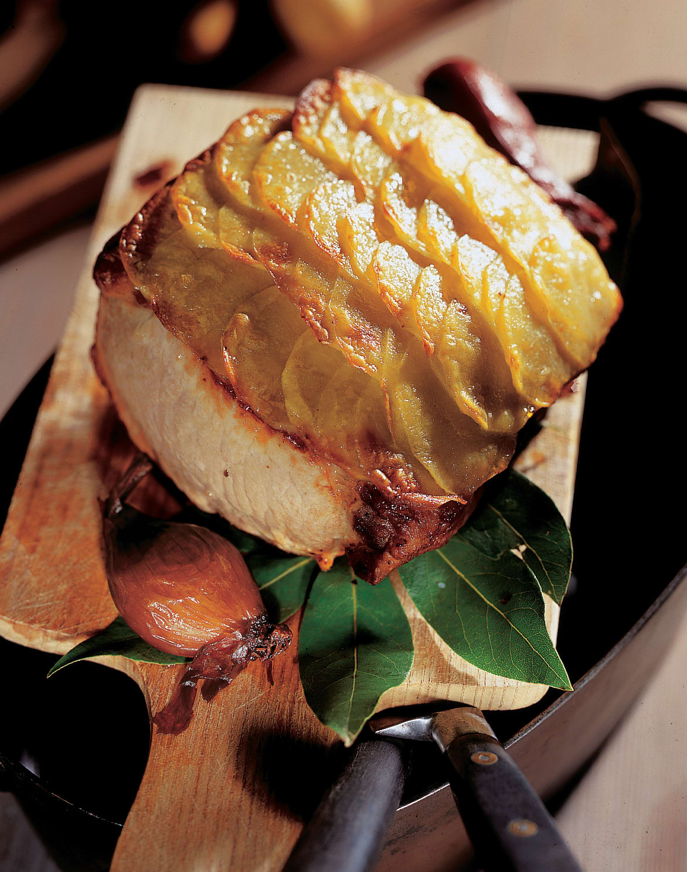 Schweinscarrée mit Kartoffelkruste