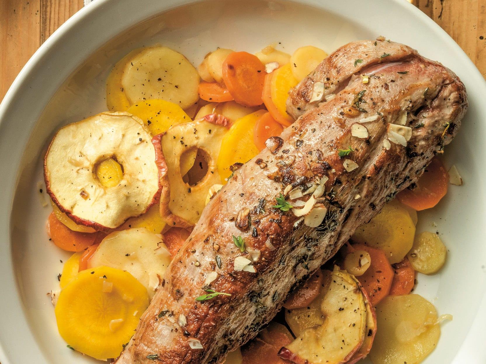 Filet de porc aux légumes-racines