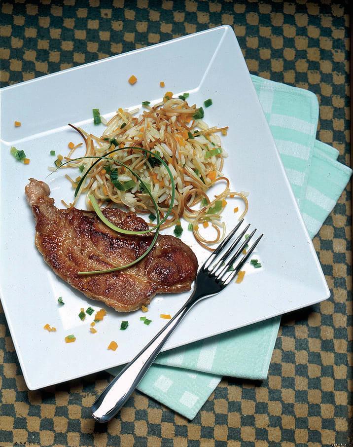 Schweinsschnitzel mit Fideli-Reis