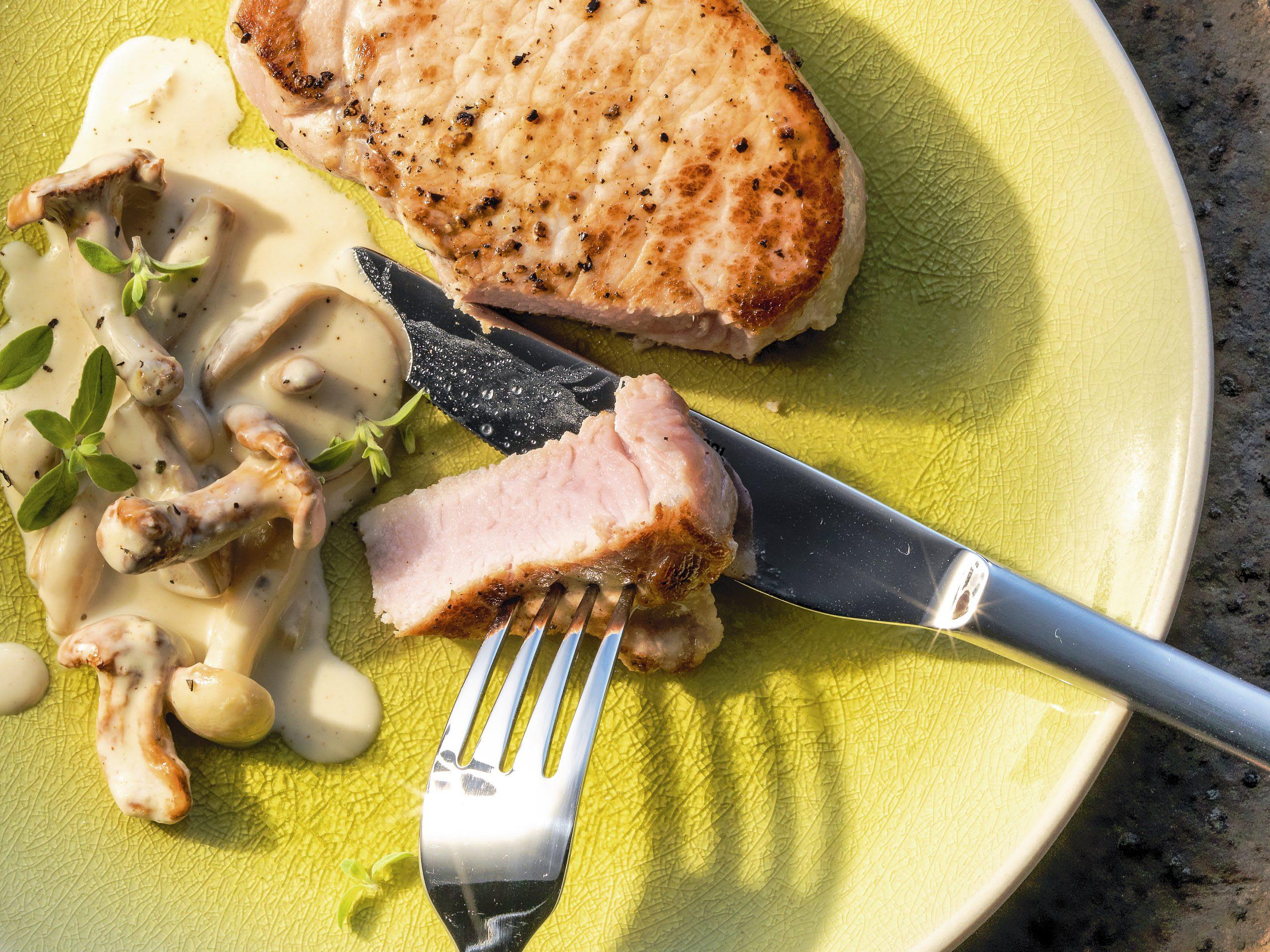 Steaks de porc sauce forestière