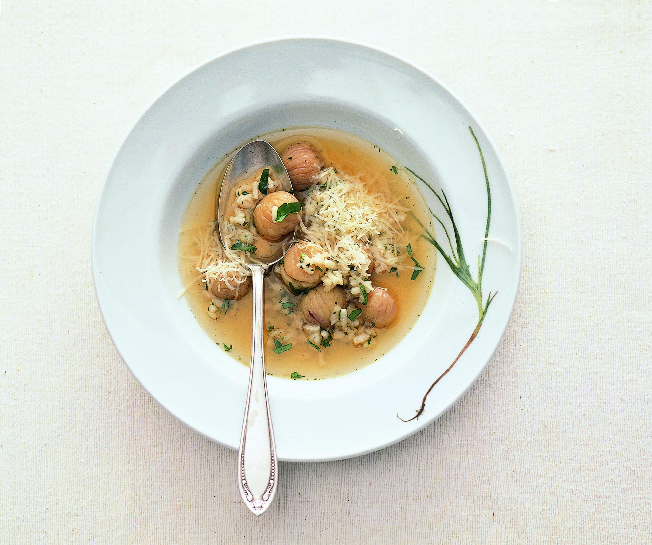 Schwyzer Reis-Kastanien-Suppe