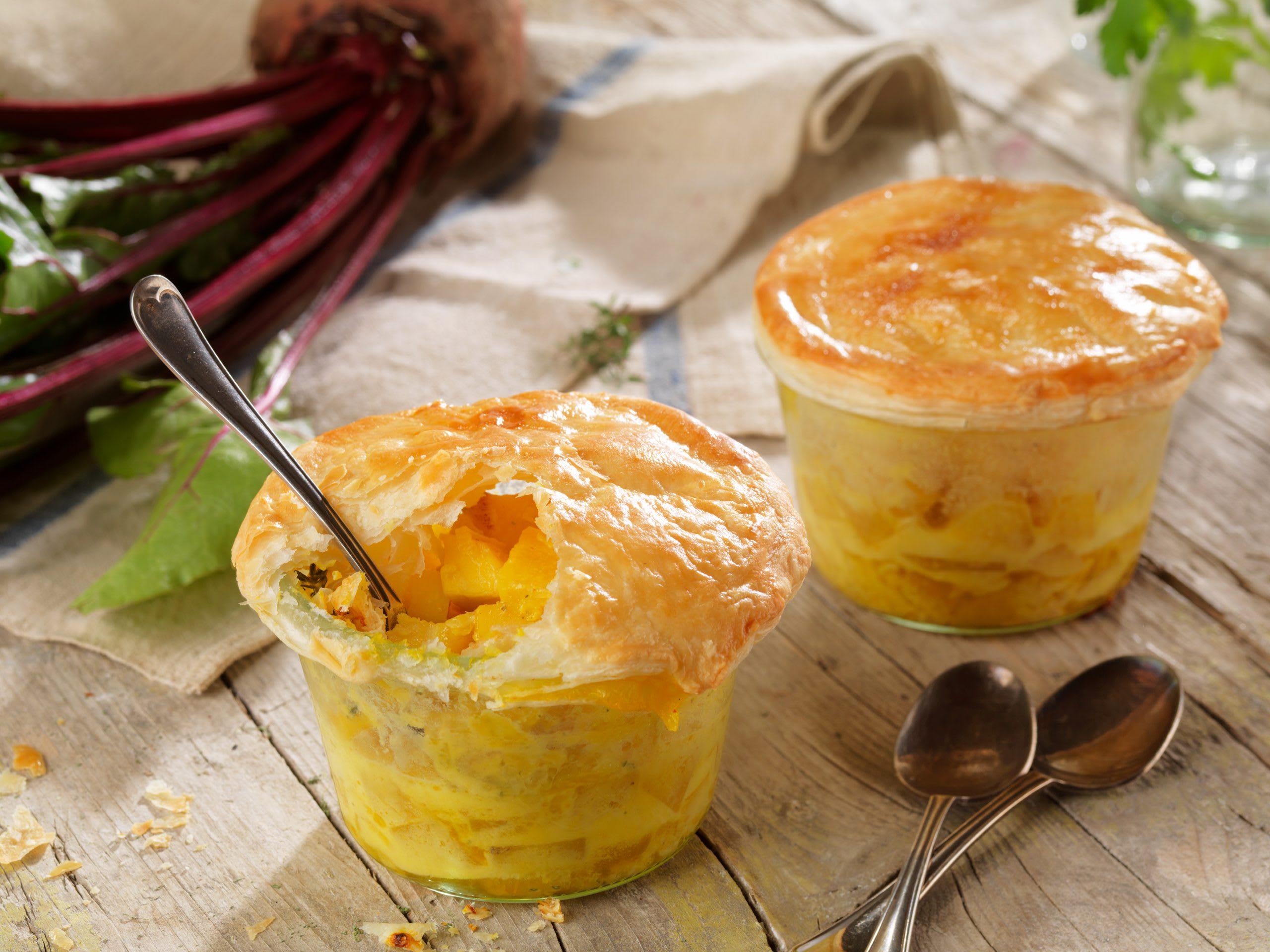 Sellerie-Randen-Pie im Glas