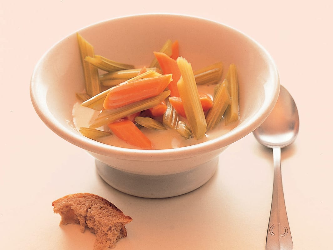 Céleri et carotte nappés de babeurre au miel