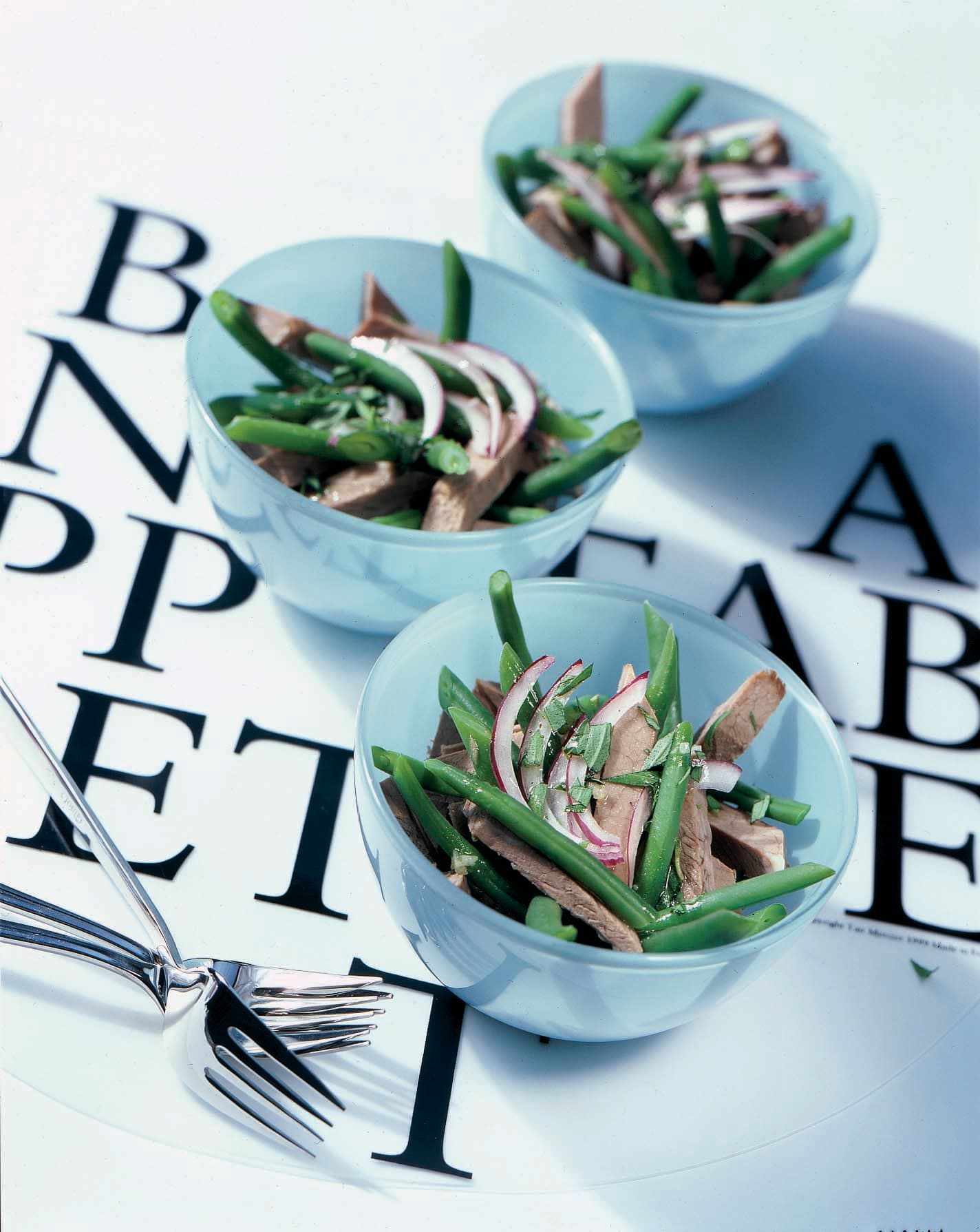 Siedfleischsalat mit Bohnen