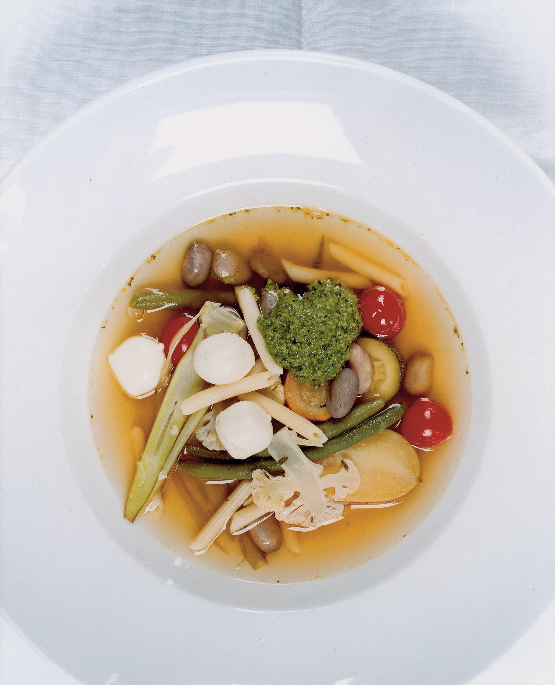 Minestrone estival (Soupe aux légumes à la tessinoise)