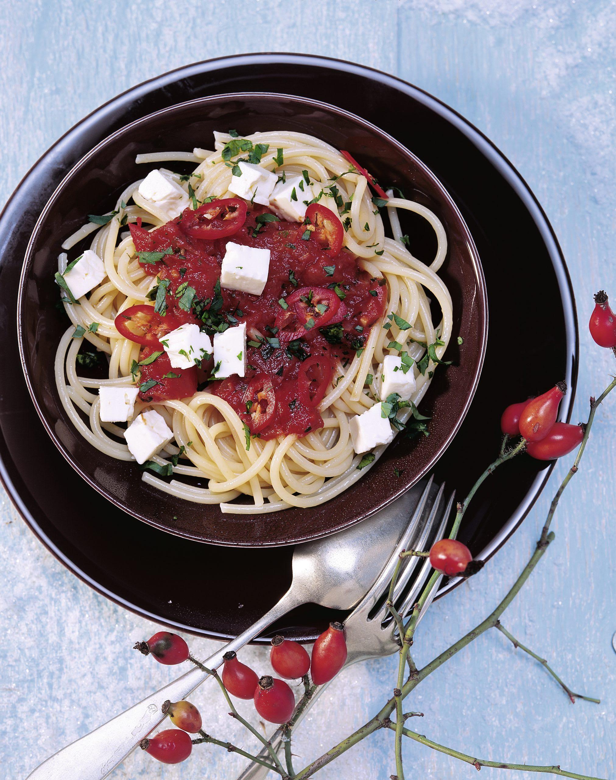 Spaghettis à l'arrabiata