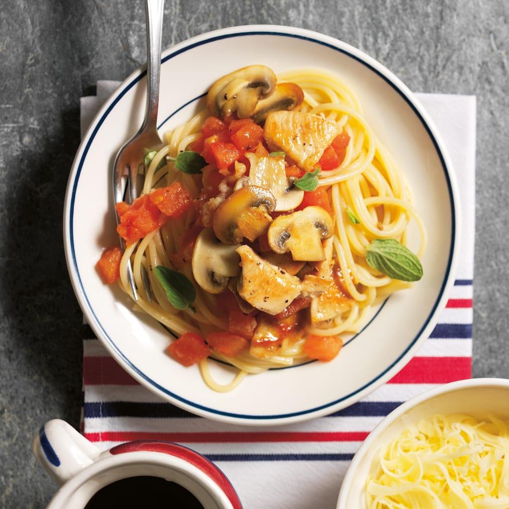 Spaghetti con pollo