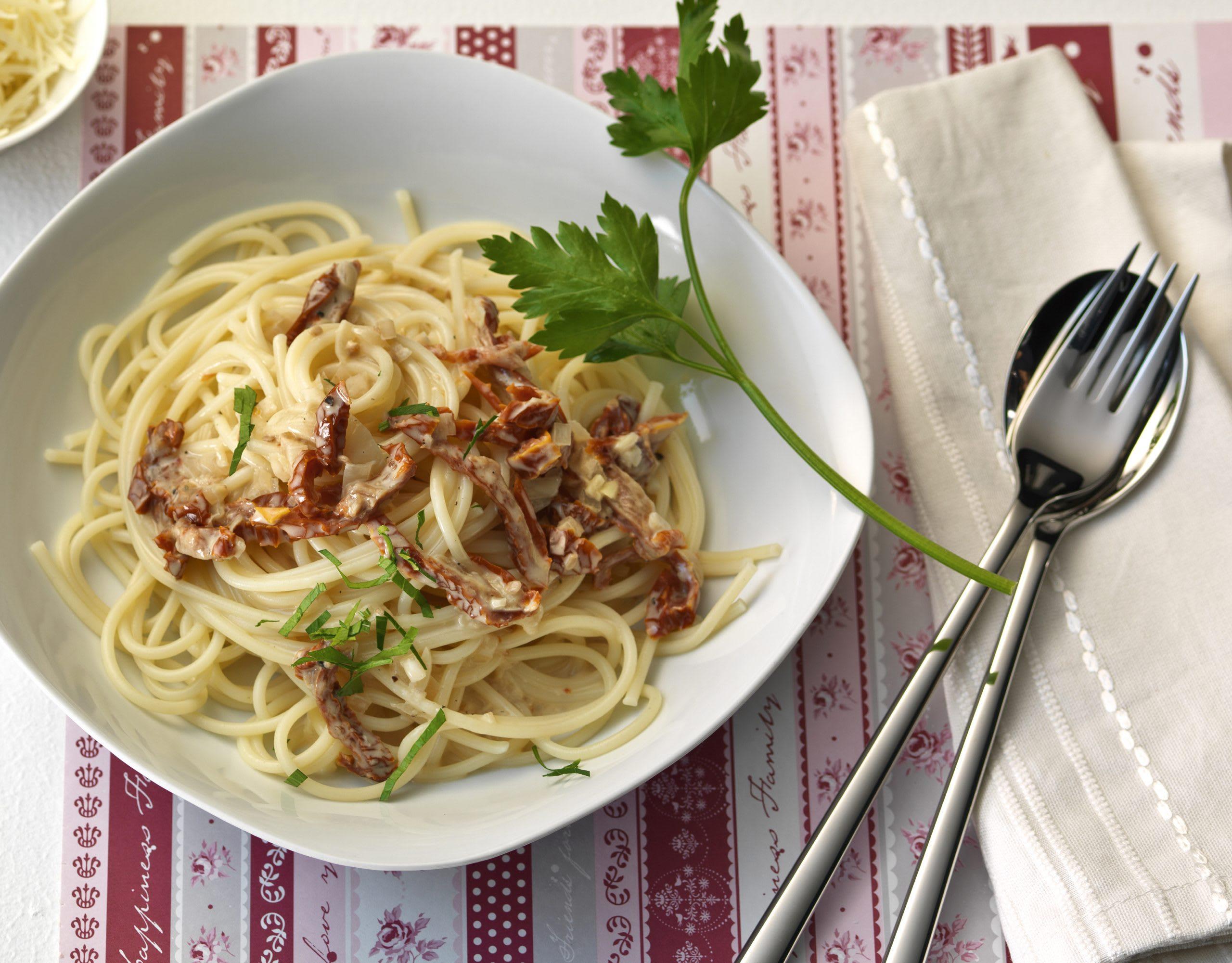 Spaghetti sauce aux tomates séchées
