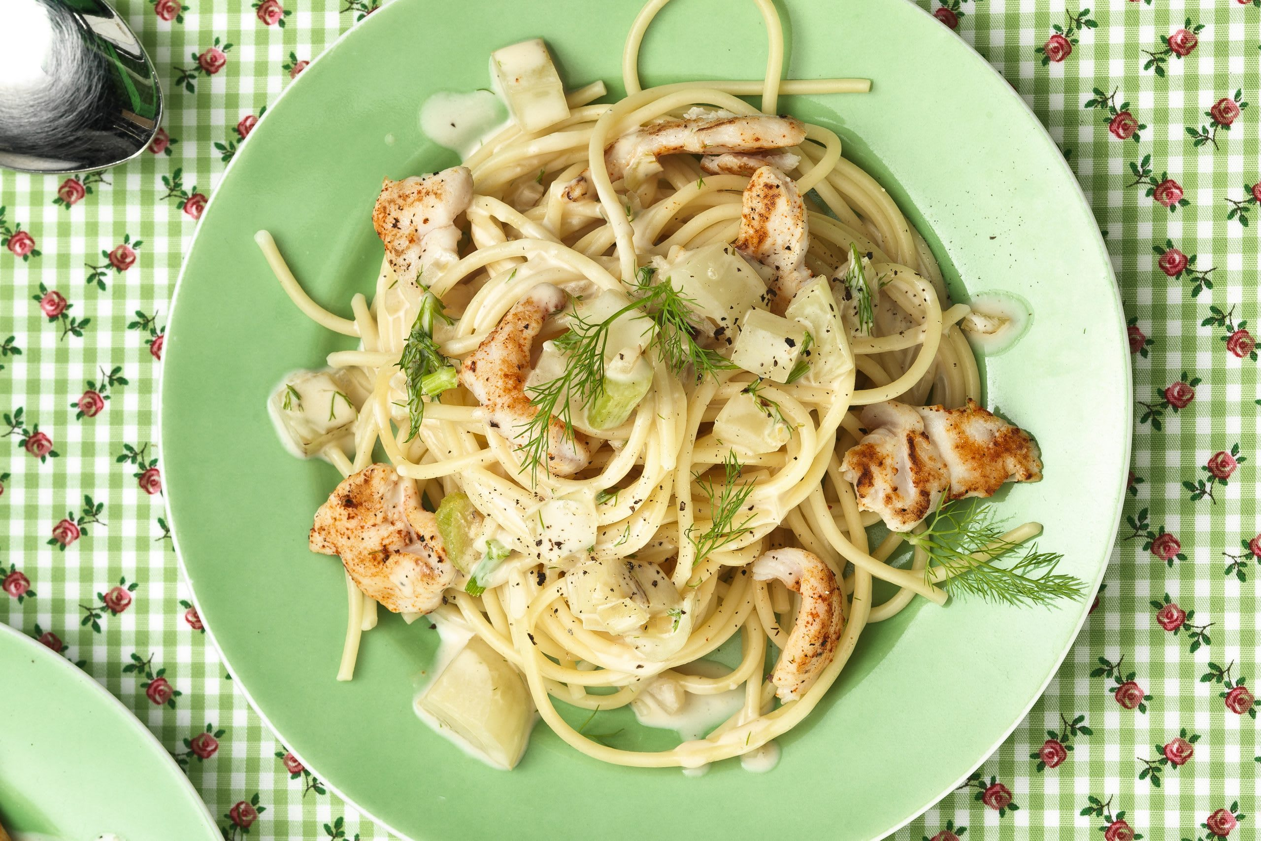 Spaghetti mit Pouletsauce