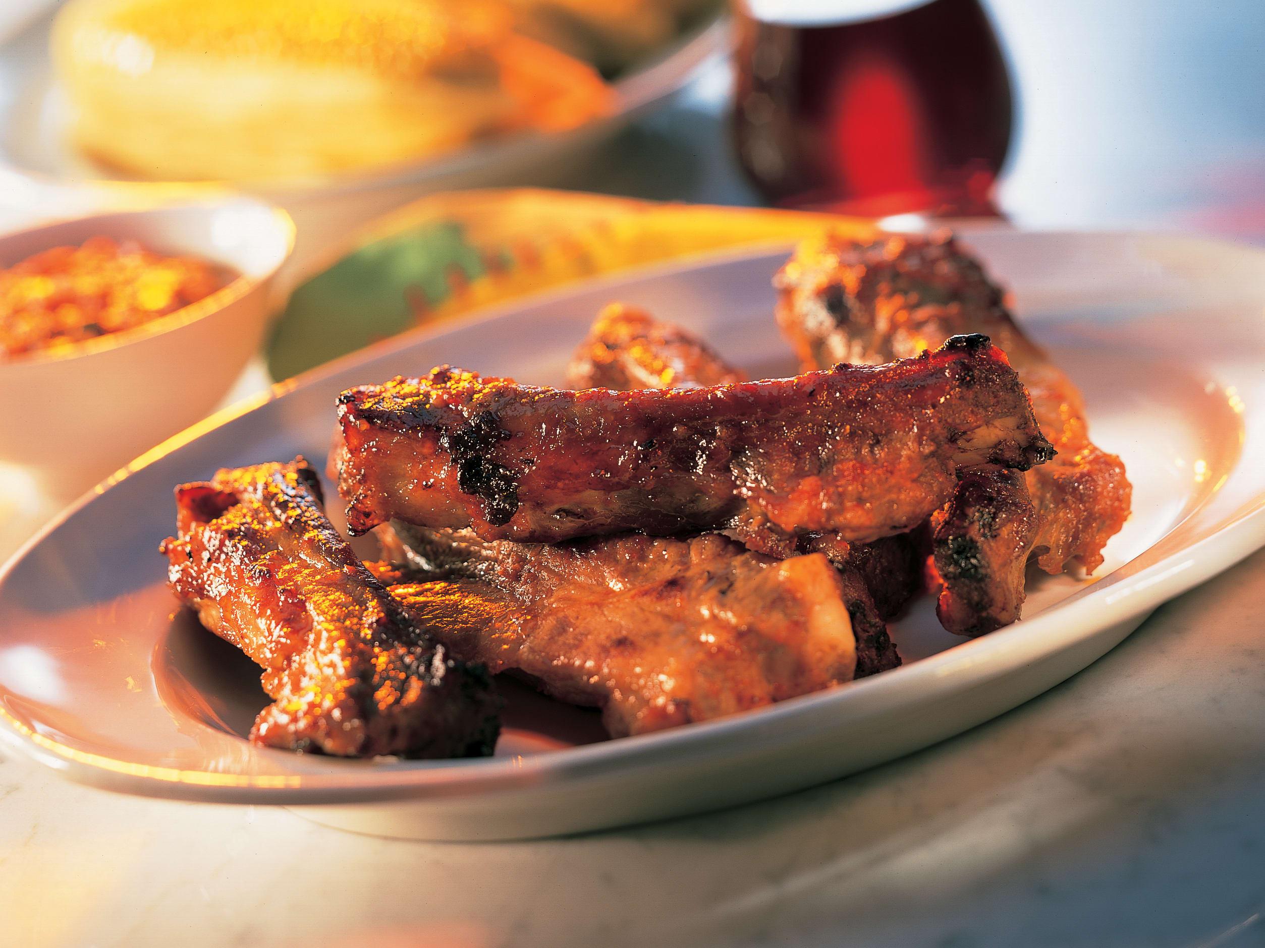 Travers de porc et sauce à la diable