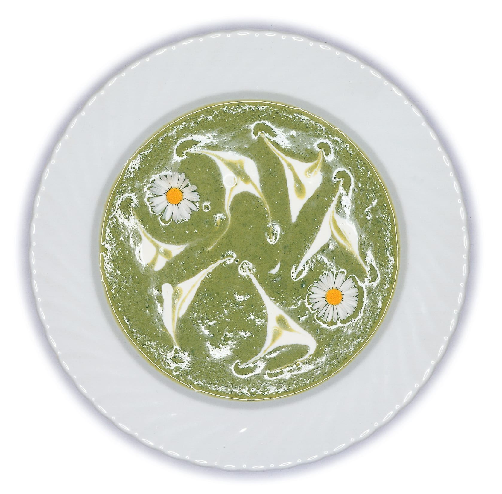 Spinat-Buttermilch-Suppe