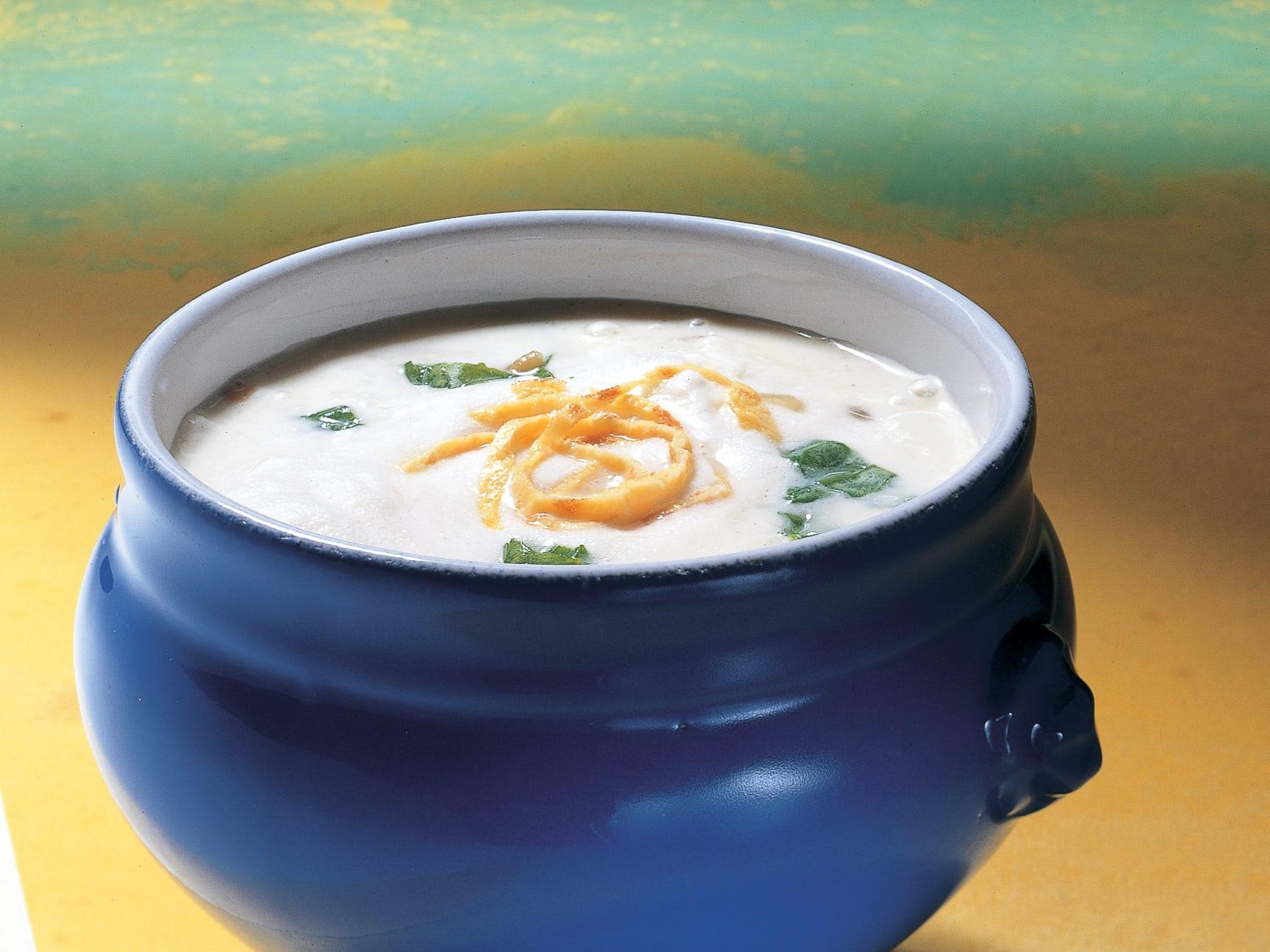 Spinat-Grünkernsuppe