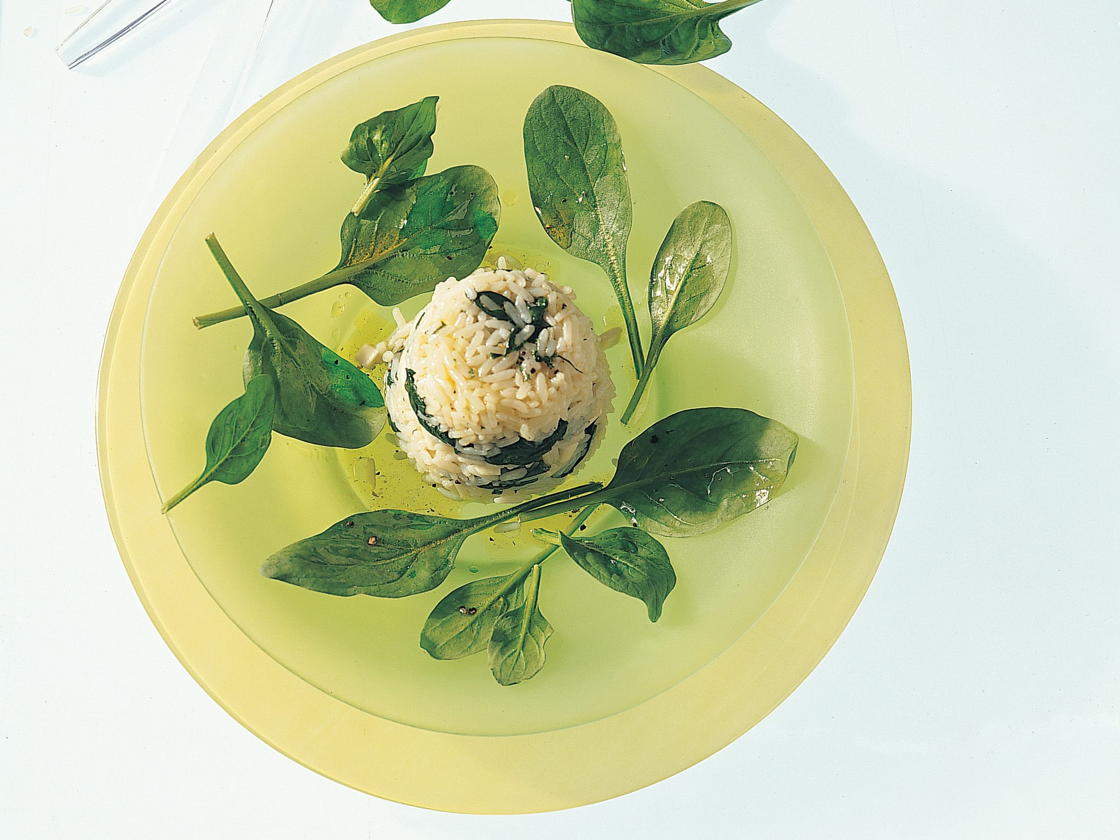 Salade de riz aux épinards
