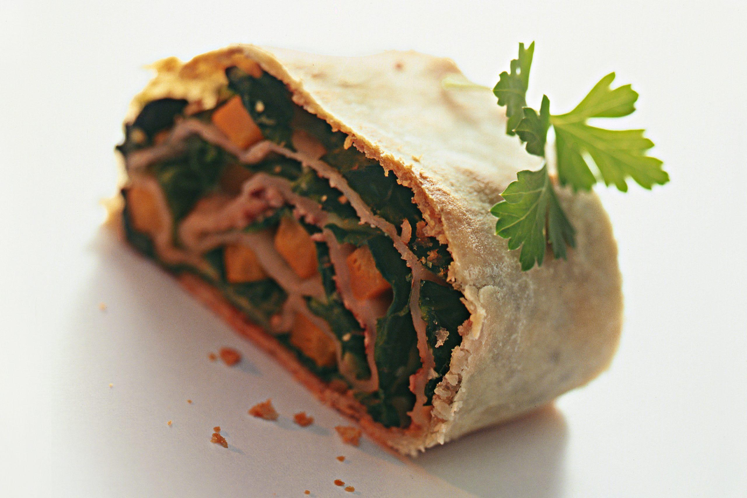 Strudel aux carottes et aux épinards