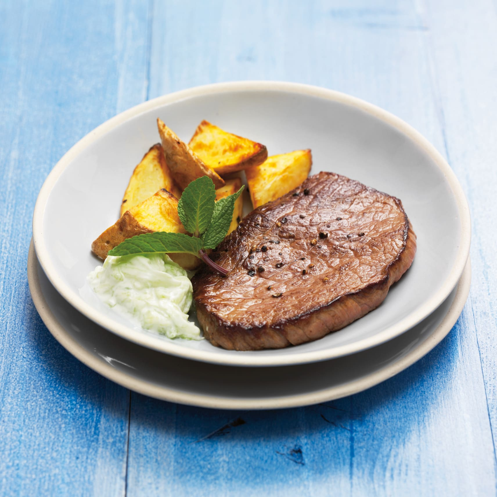 Steaks au tzatziki