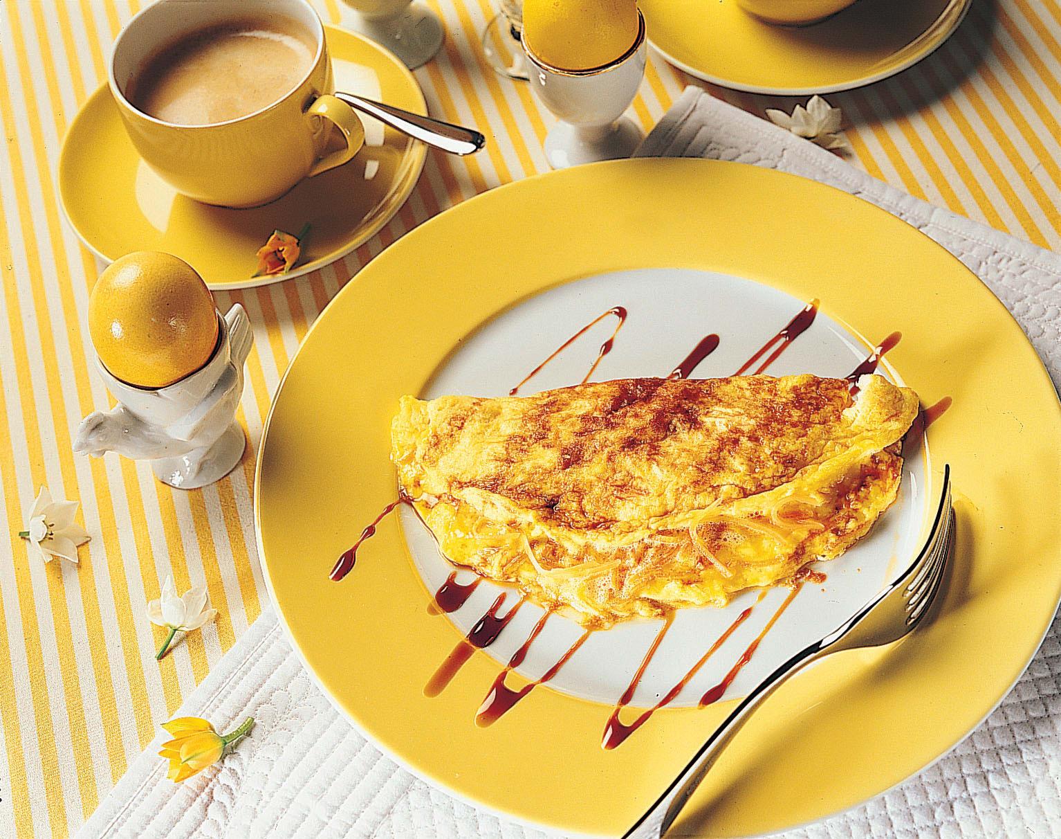 Süsse Rüebli-Omelette an Kaffee-Jus
