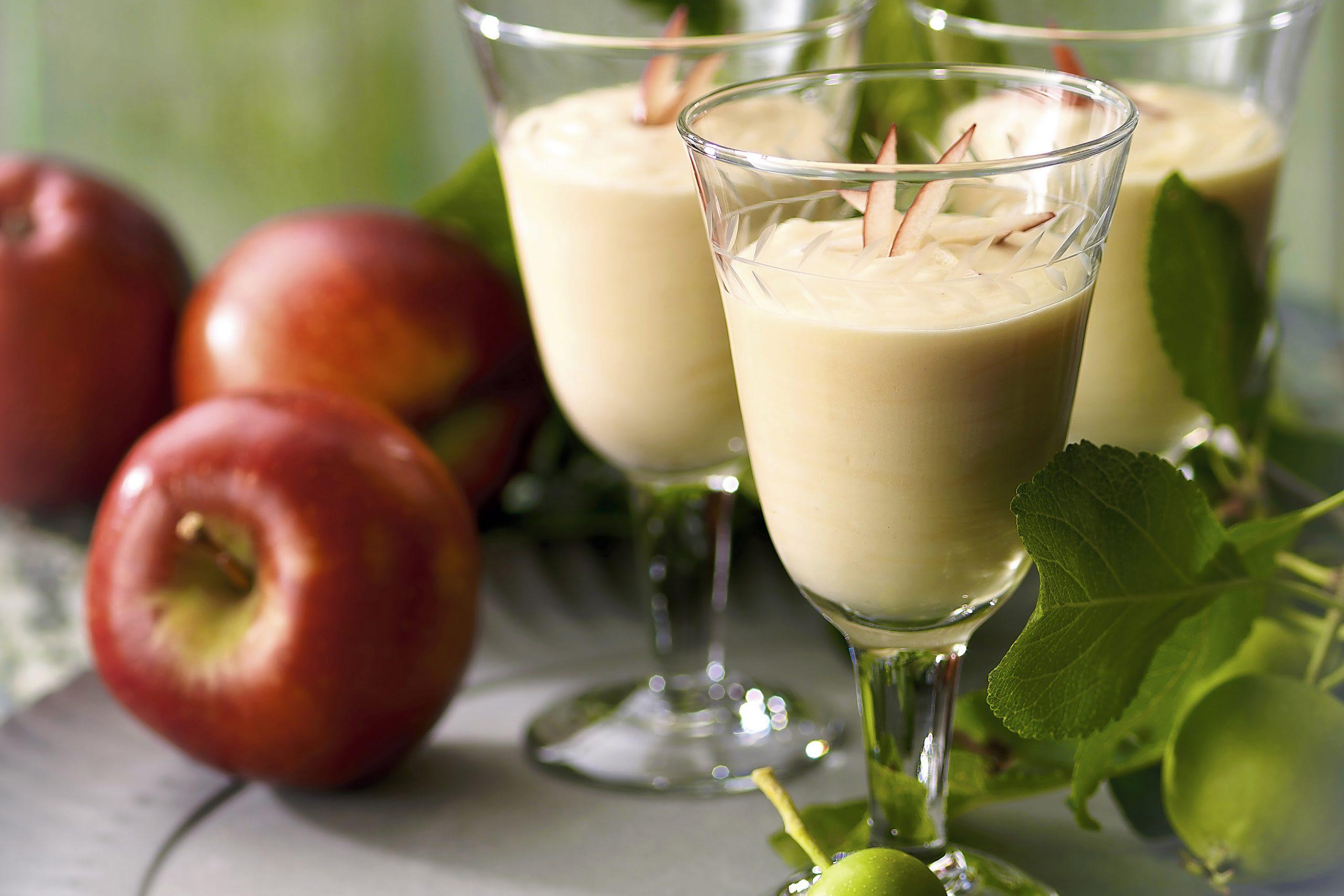 Crème au jus de pomme